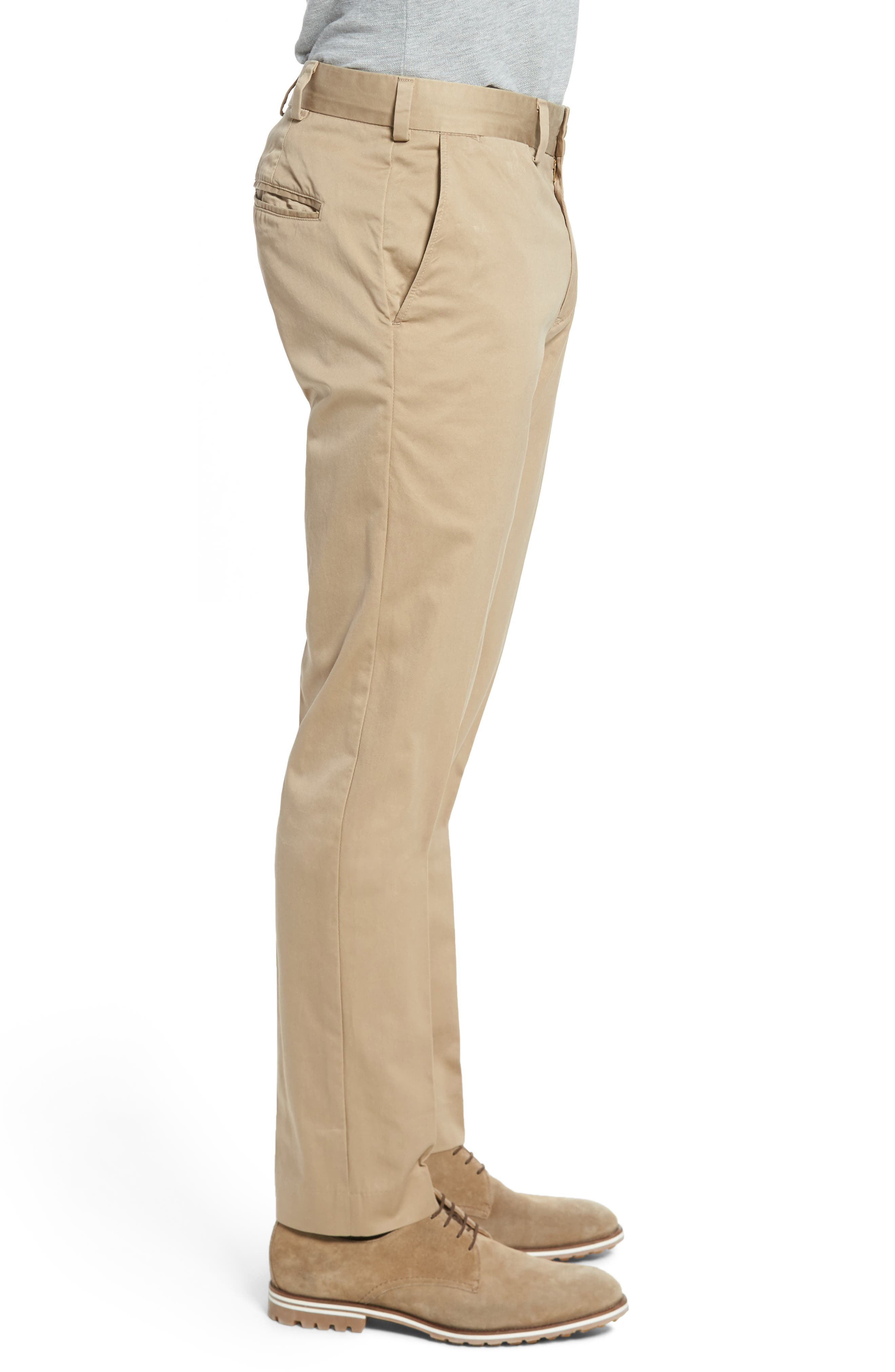Slim Fit Chamois Cloth Pants,                             Alternate thumbnail 3, color,                             Camel