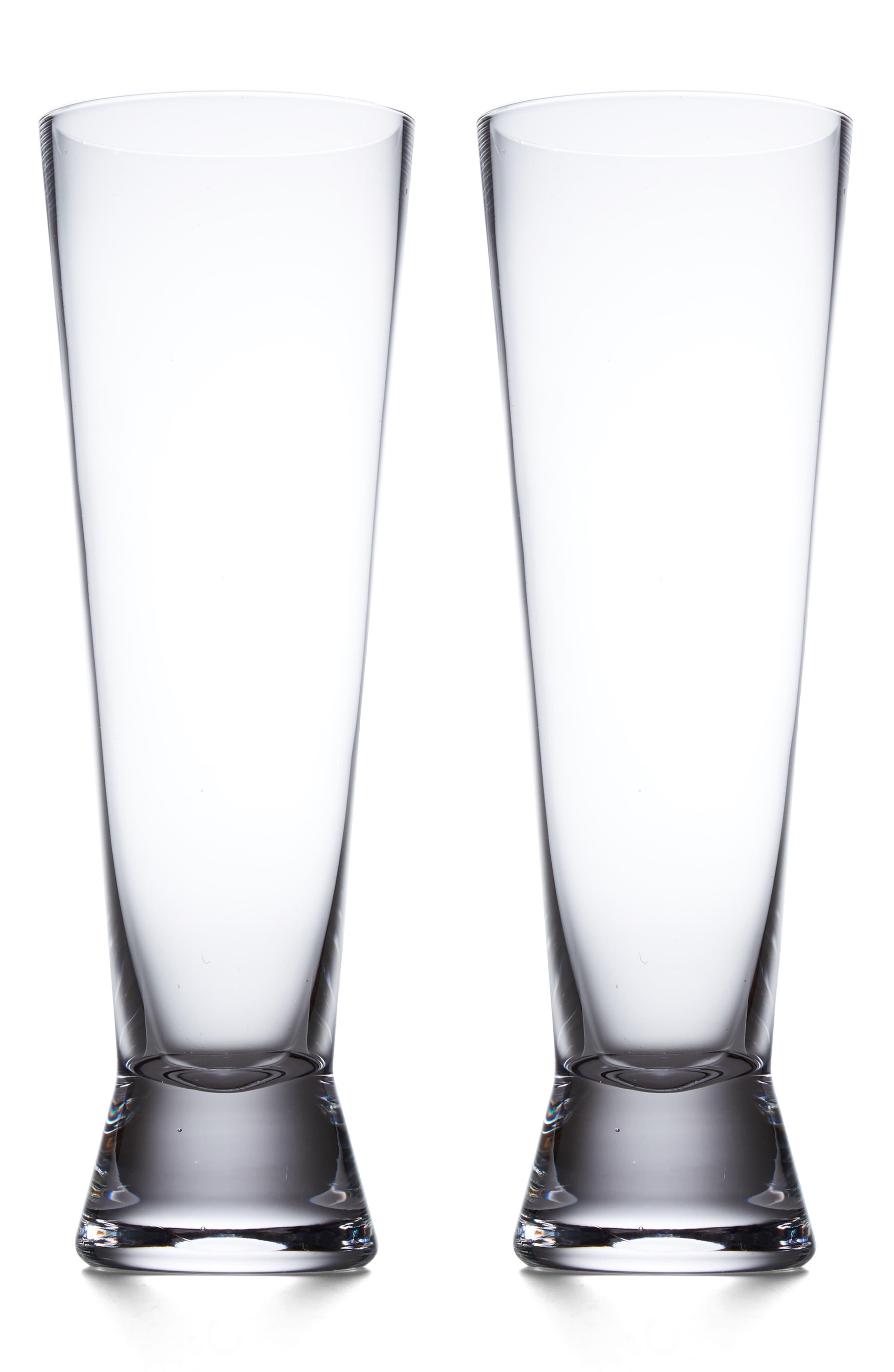 Raye Set of 2 Pilsner Glasses,                         Main,                         color, White