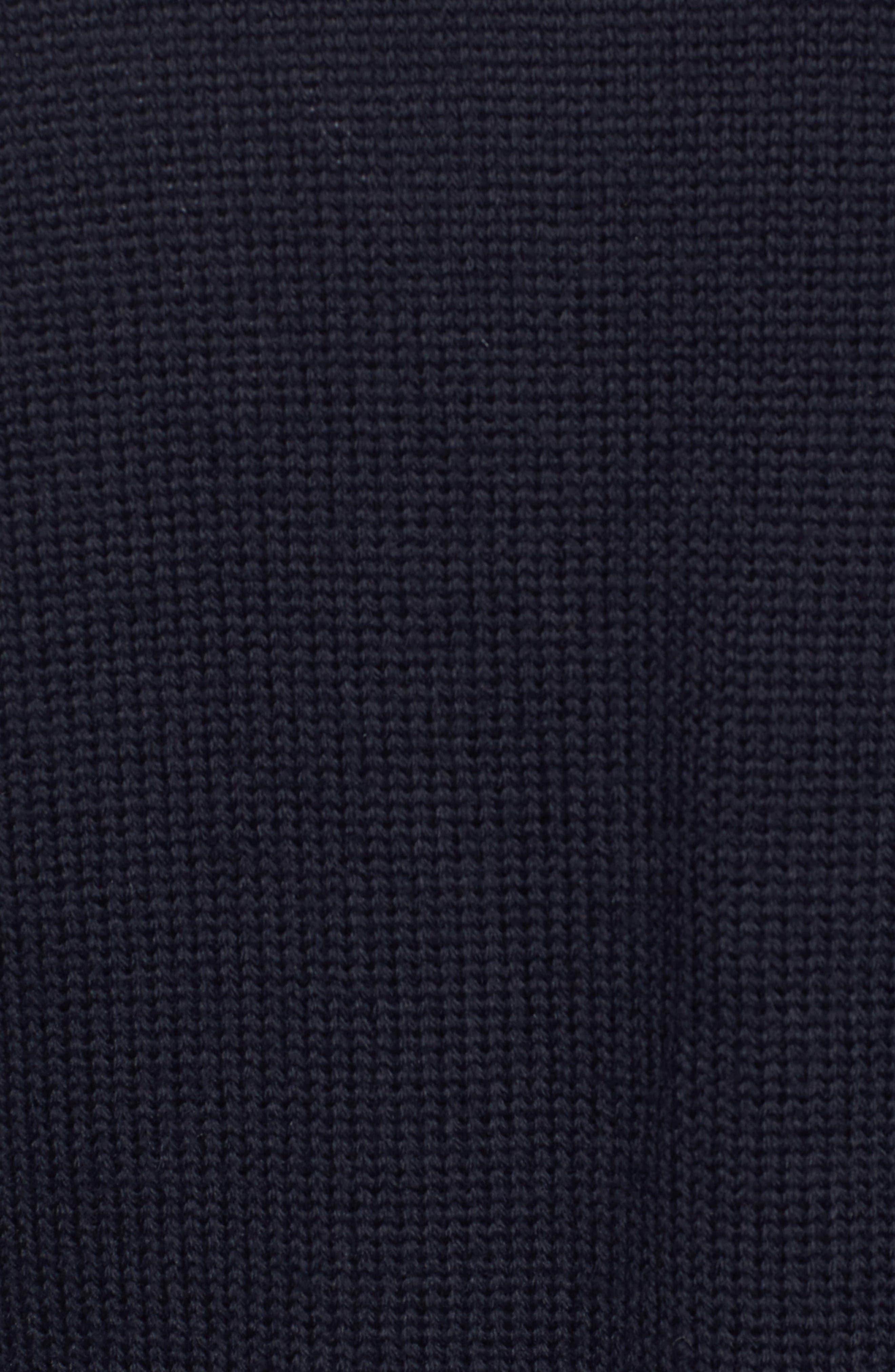 Wool Cardigan with Bib,                             Alternate thumbnail 5, color,                             Navy Night
