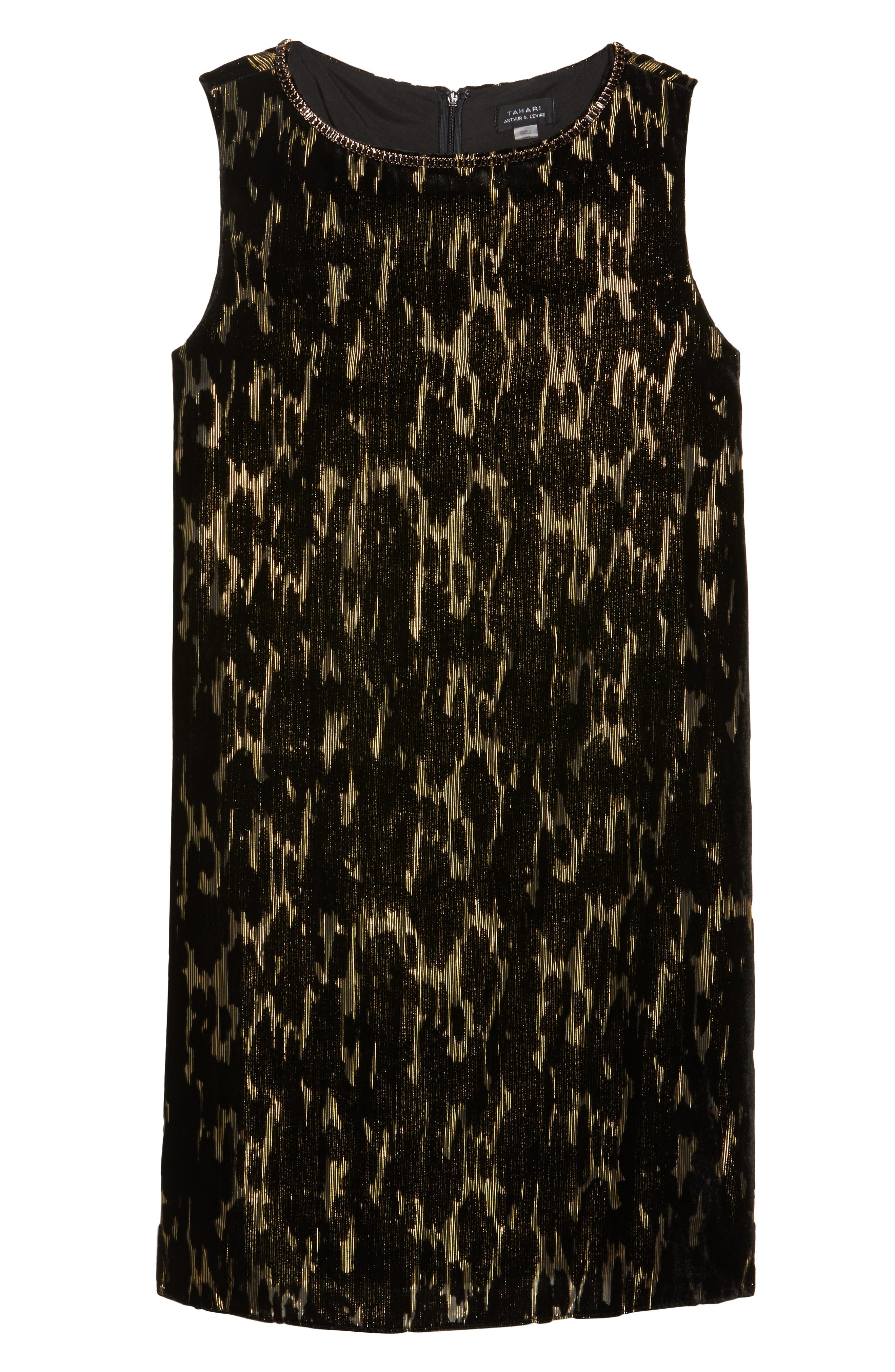 Alternate Image 6  - Tahari Burnout Velvet Dress (Plus Size)