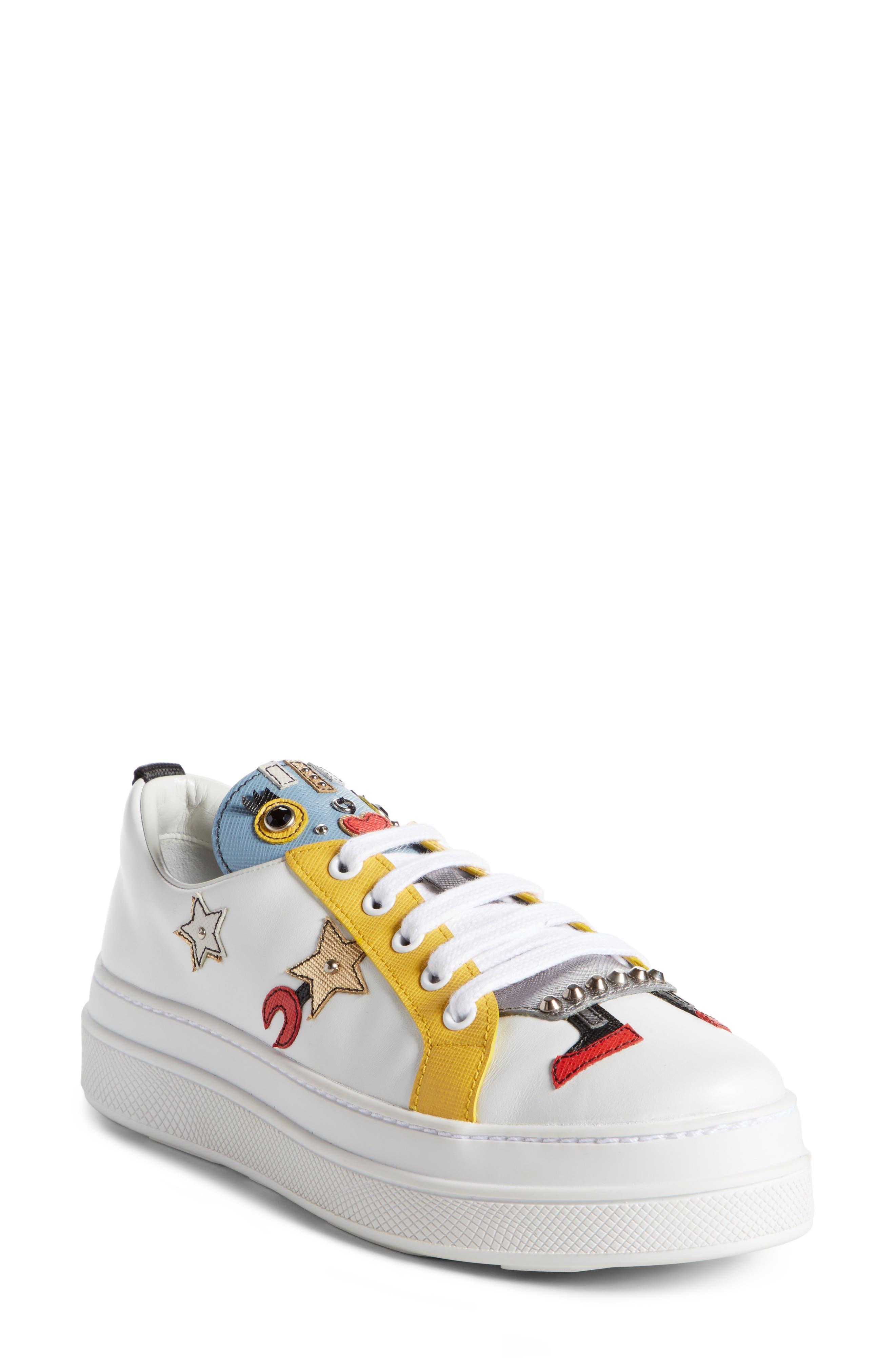 Robot Platform Sneaker,                         Main,                         color, White
