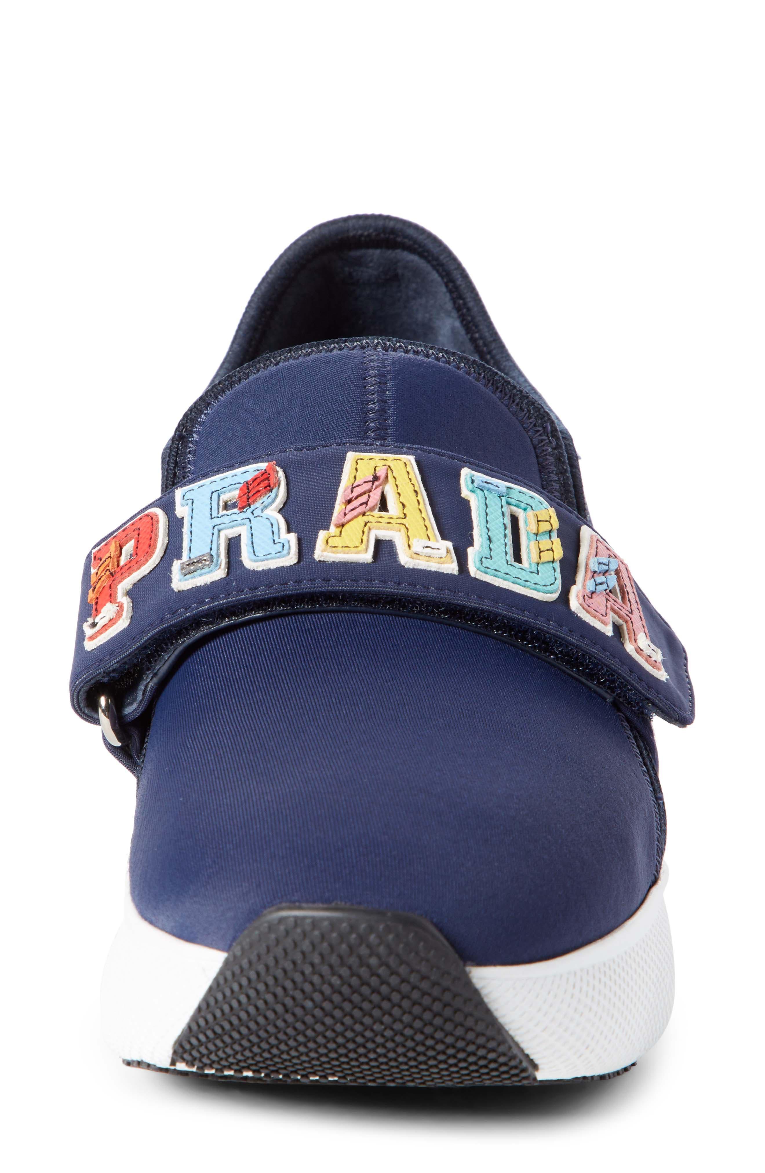 Alternate Image 4  - Prada Logo Strap Low Top Sneaker (Women)