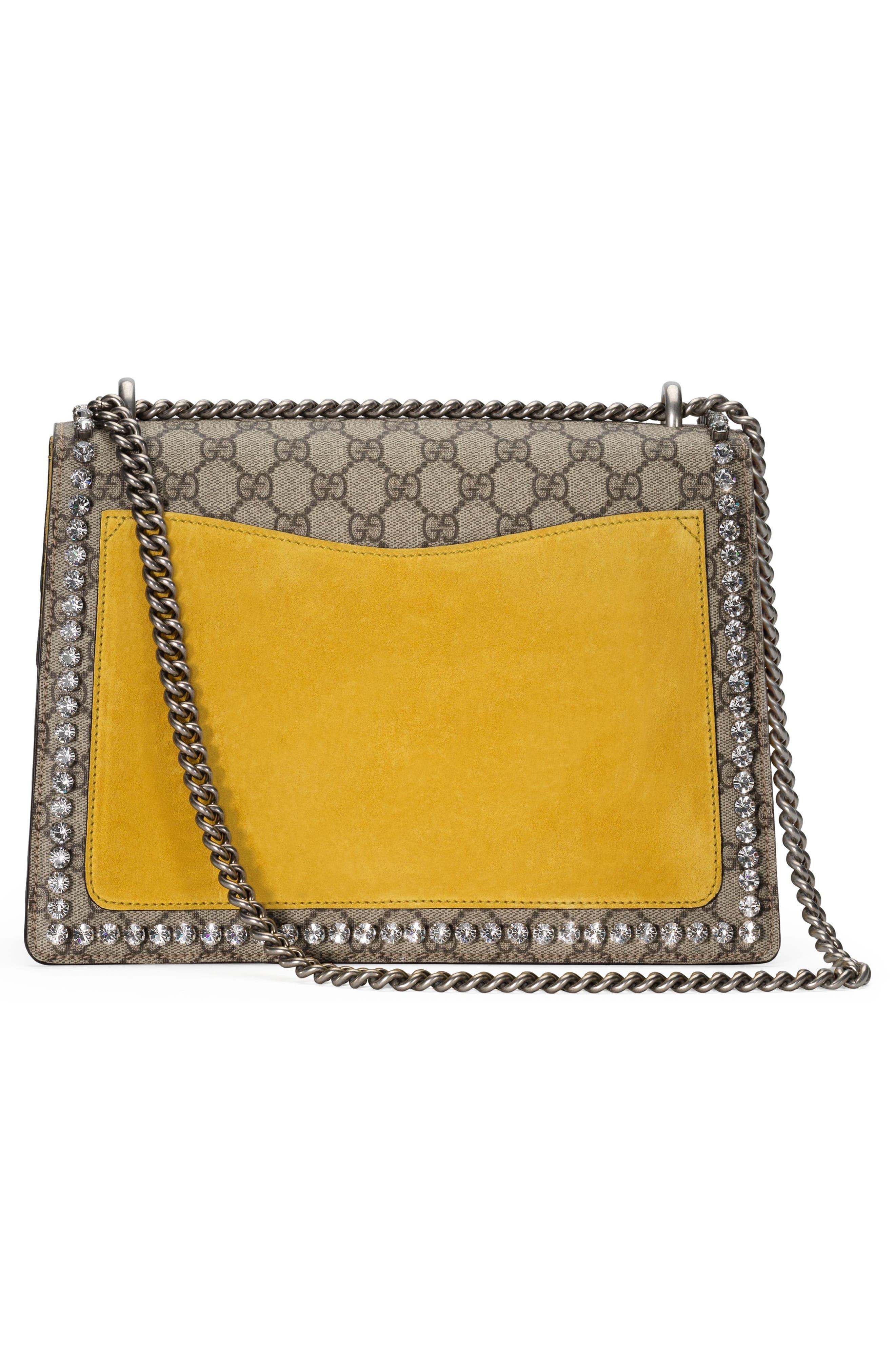 Medium Dionysus GG Supreme Canvas Shoulder Bag,                             Alternate thumbnail 2, color,                             Beige Ebony Crystal