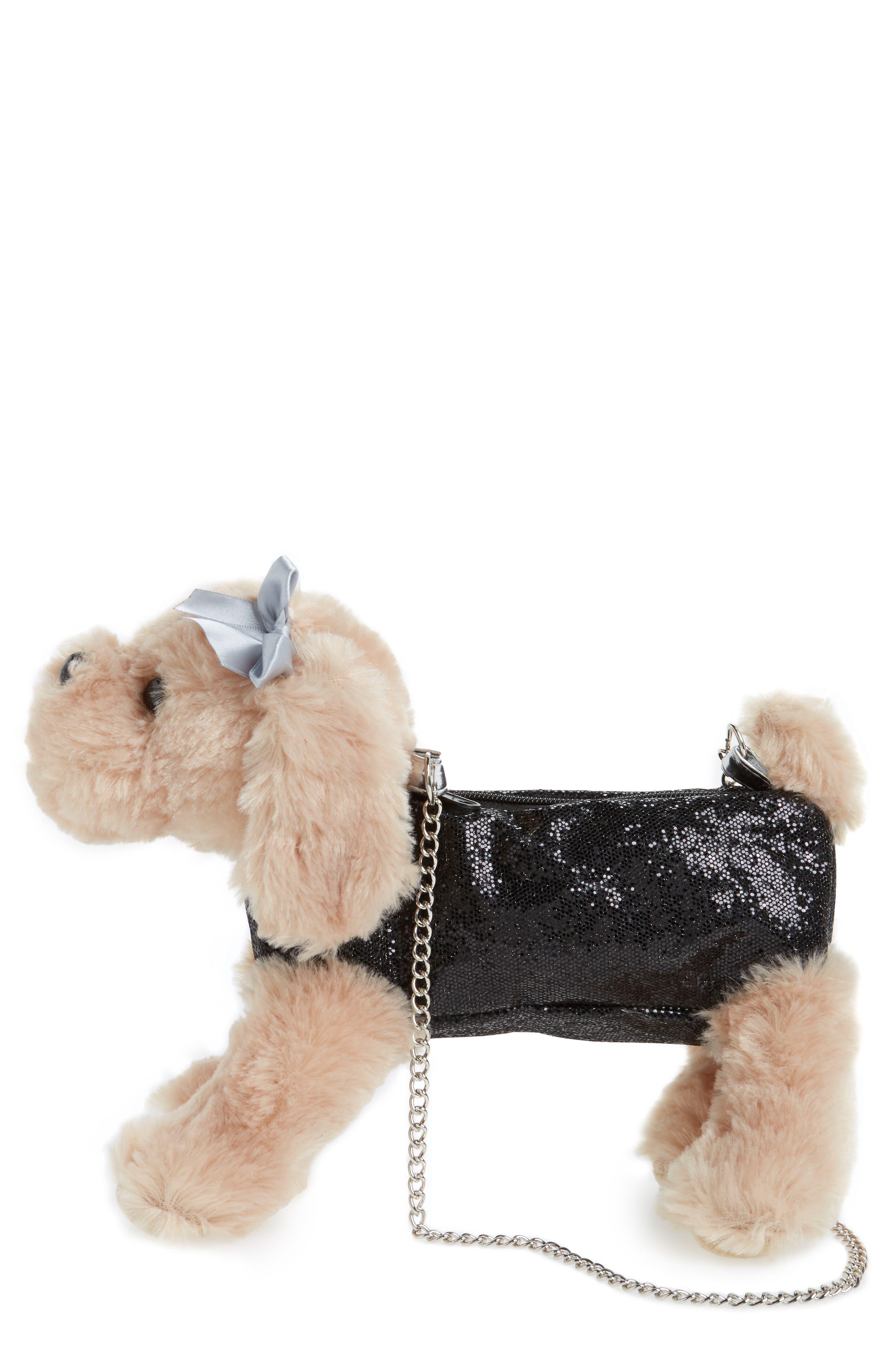 Cocker Spaniel Shoulder Bag,                             Main thumbnail 1, color,                             Black Combo