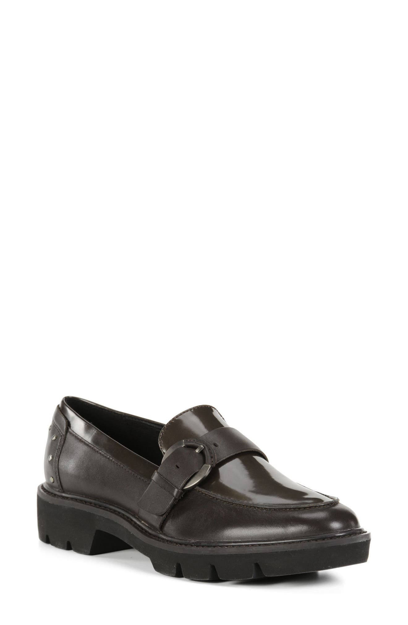Quinlynn Loafer,                             Main thumbnail 1, color,                             Brown Leather