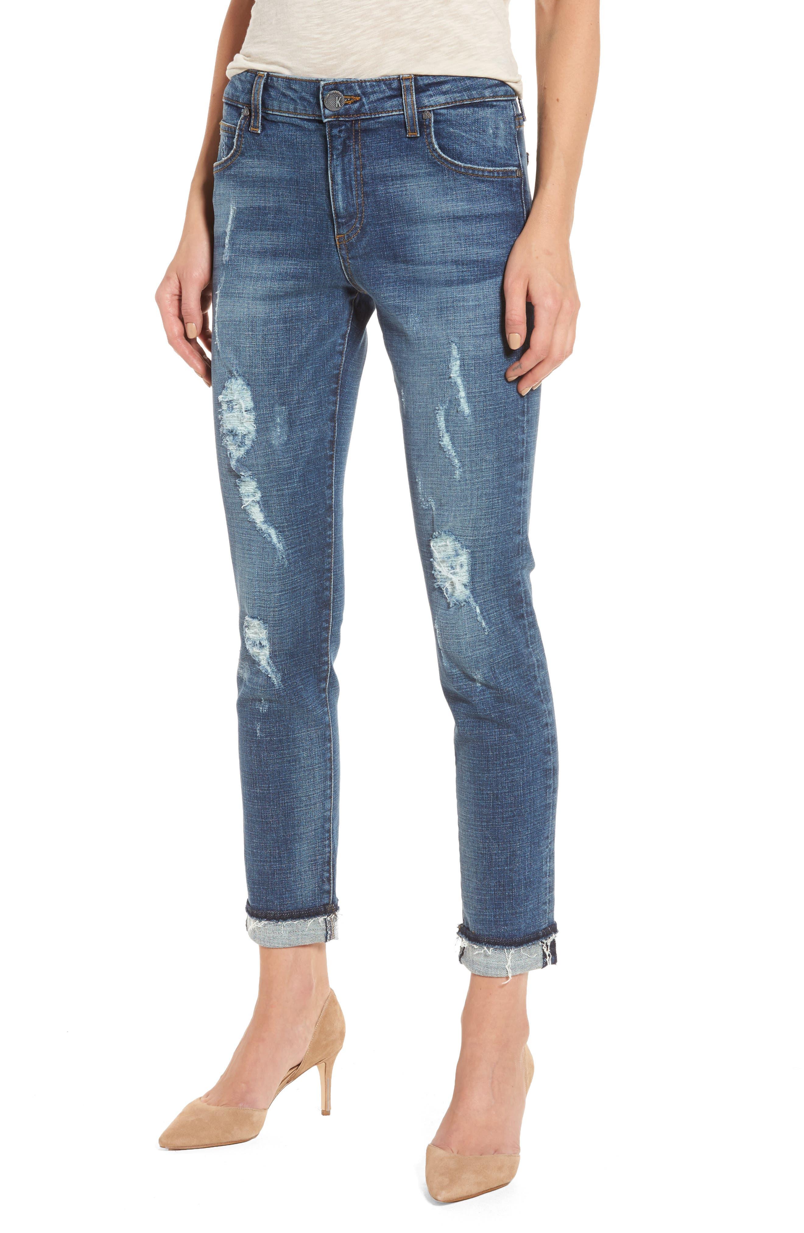 Uma Boyfriend Jeans,                         Main,                         color, Livened