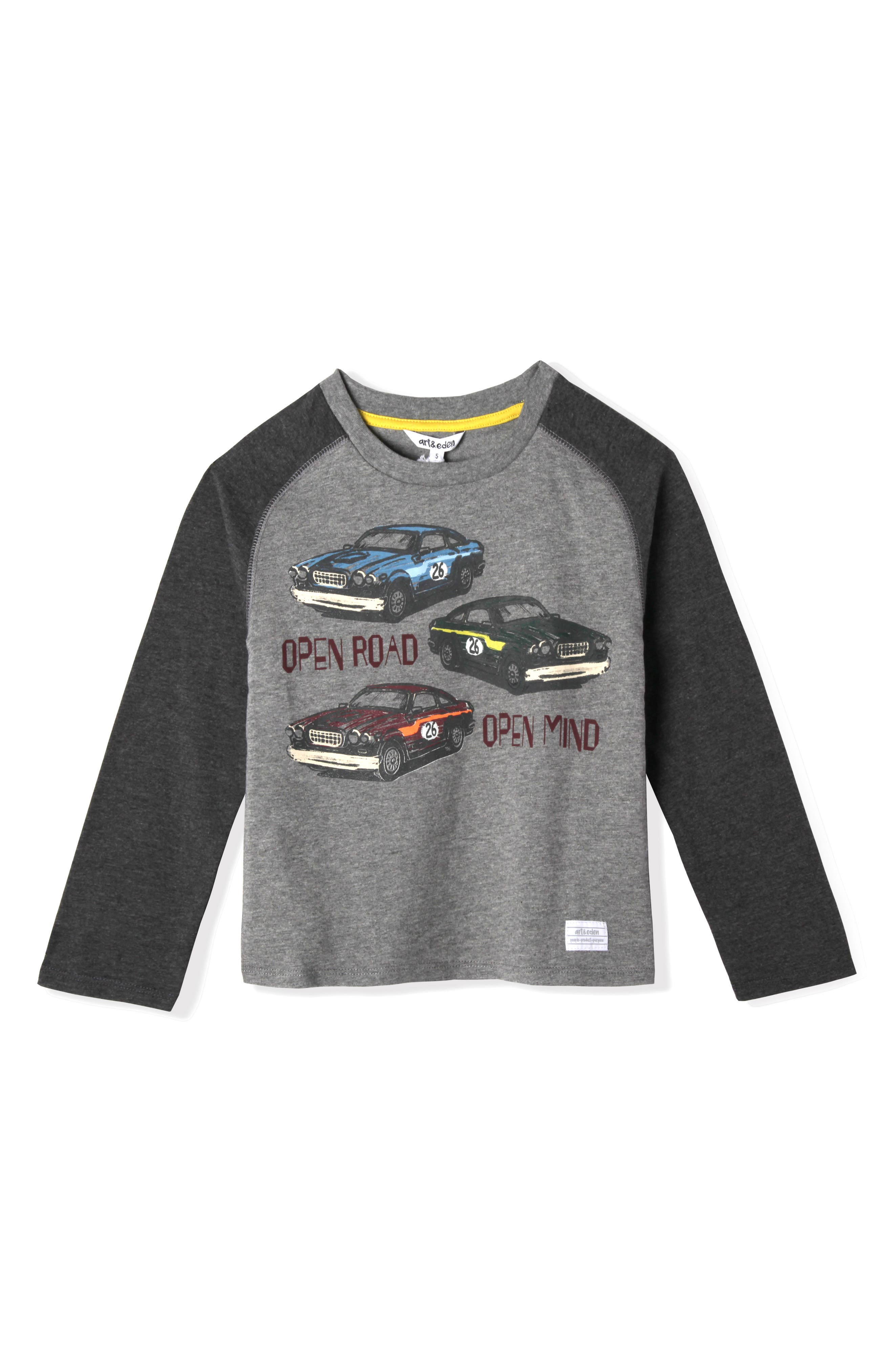 Open Road Organic Cotton T-Shirt,                         Main,                         color, Grey Heather
