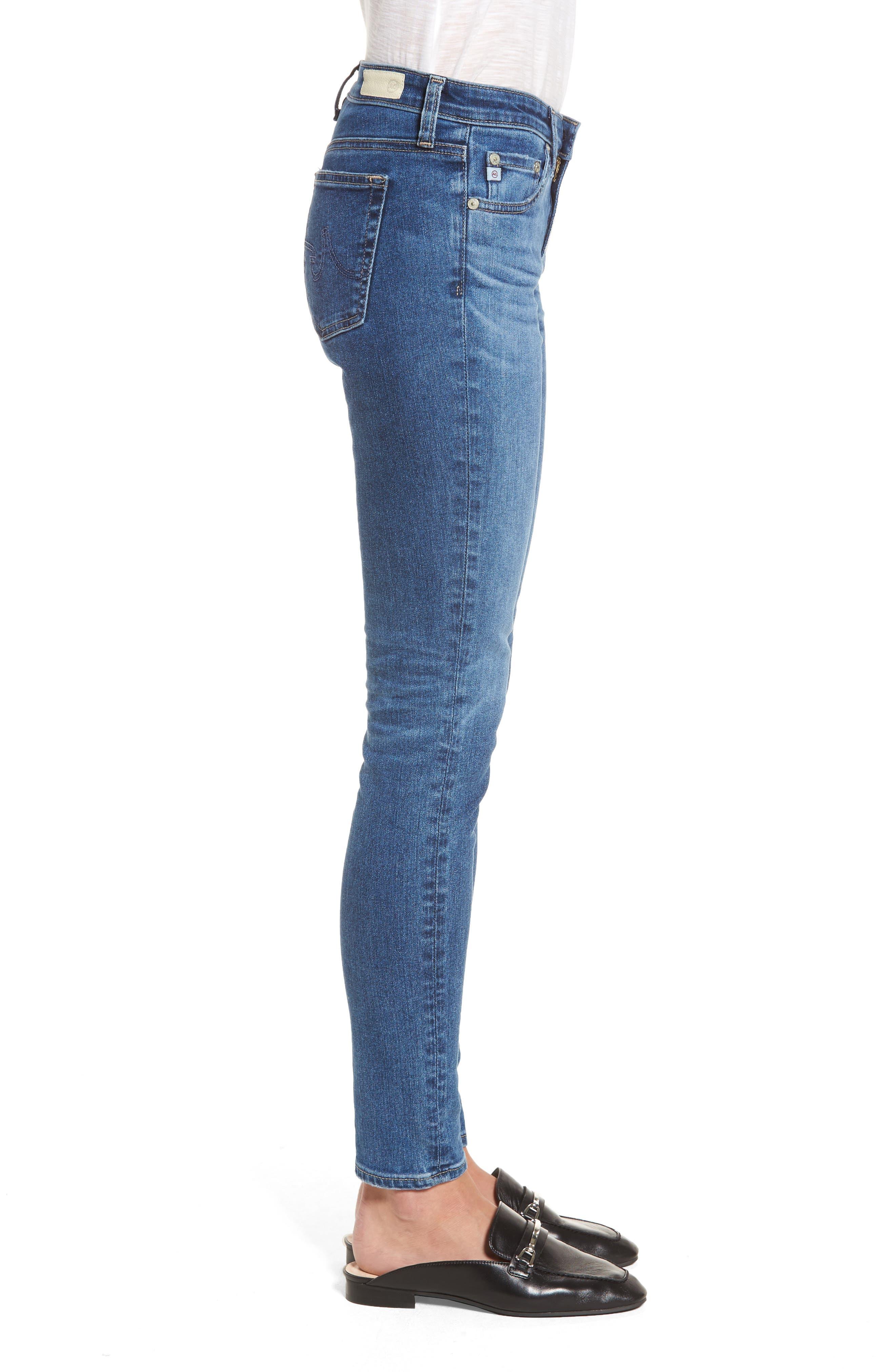 Alternate Image 3  - AG The Legging Ankle Super Skinny Jeans (17 Years Sea Drift)