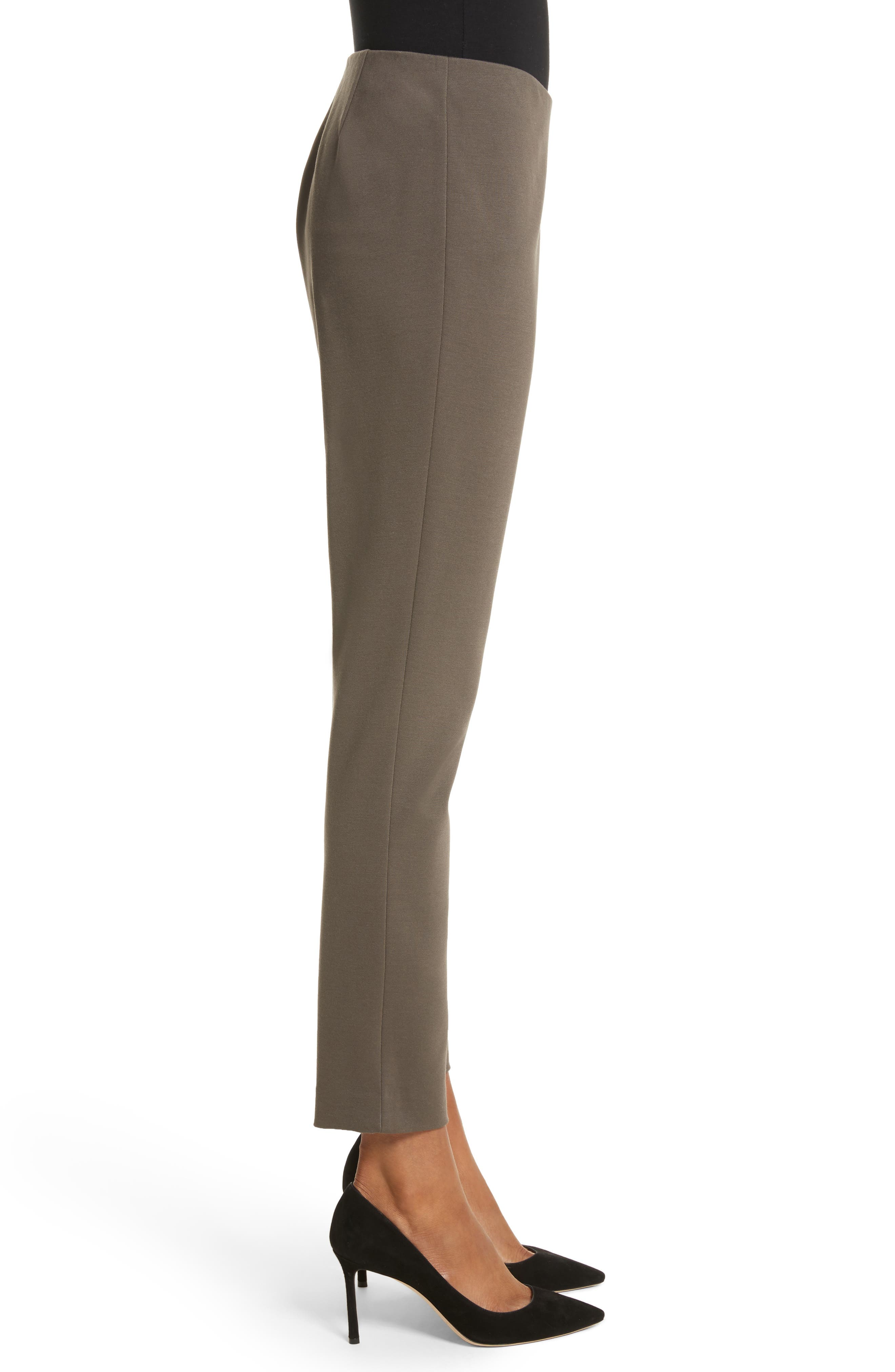 Heyward Punto Milano Slim Pants,                             Alternate thumbnail 4, color,                             Lead