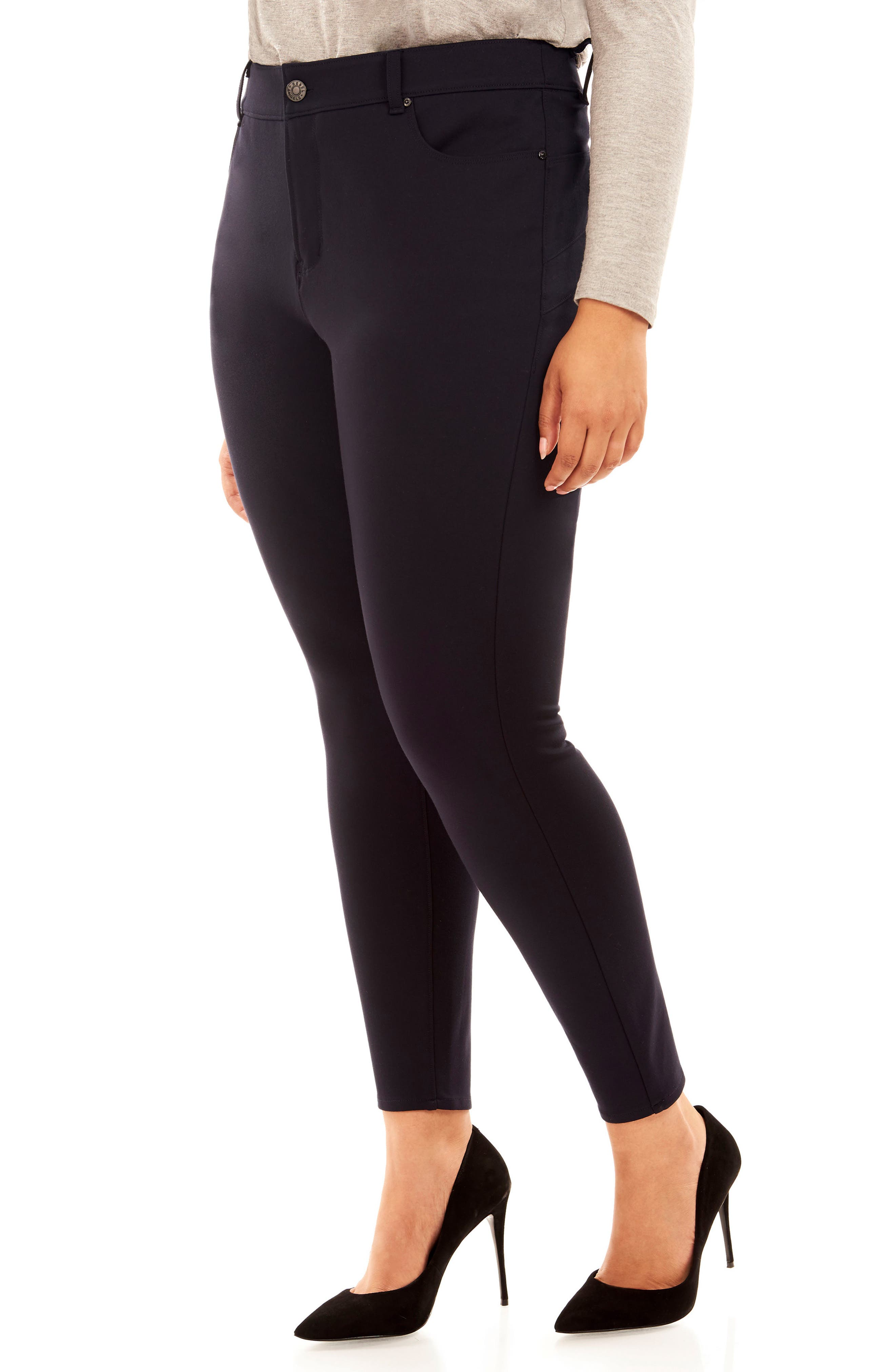 The Super Bass Midrise Ankle Pants,                             Alternate thumbnail 4, color,                             Navy
