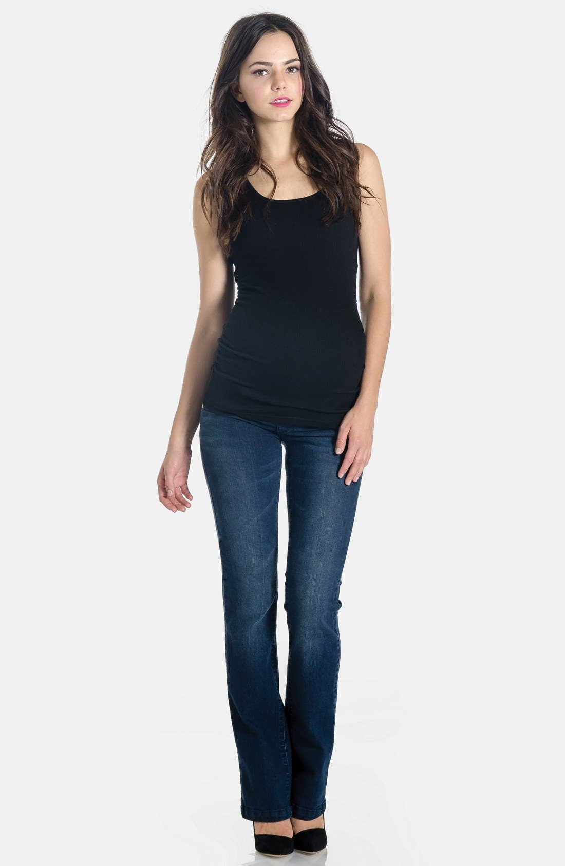 'Signature' Bootcut Maternity Stretch Jeans,                             Alternate thumbnail 3, color,                             Denim