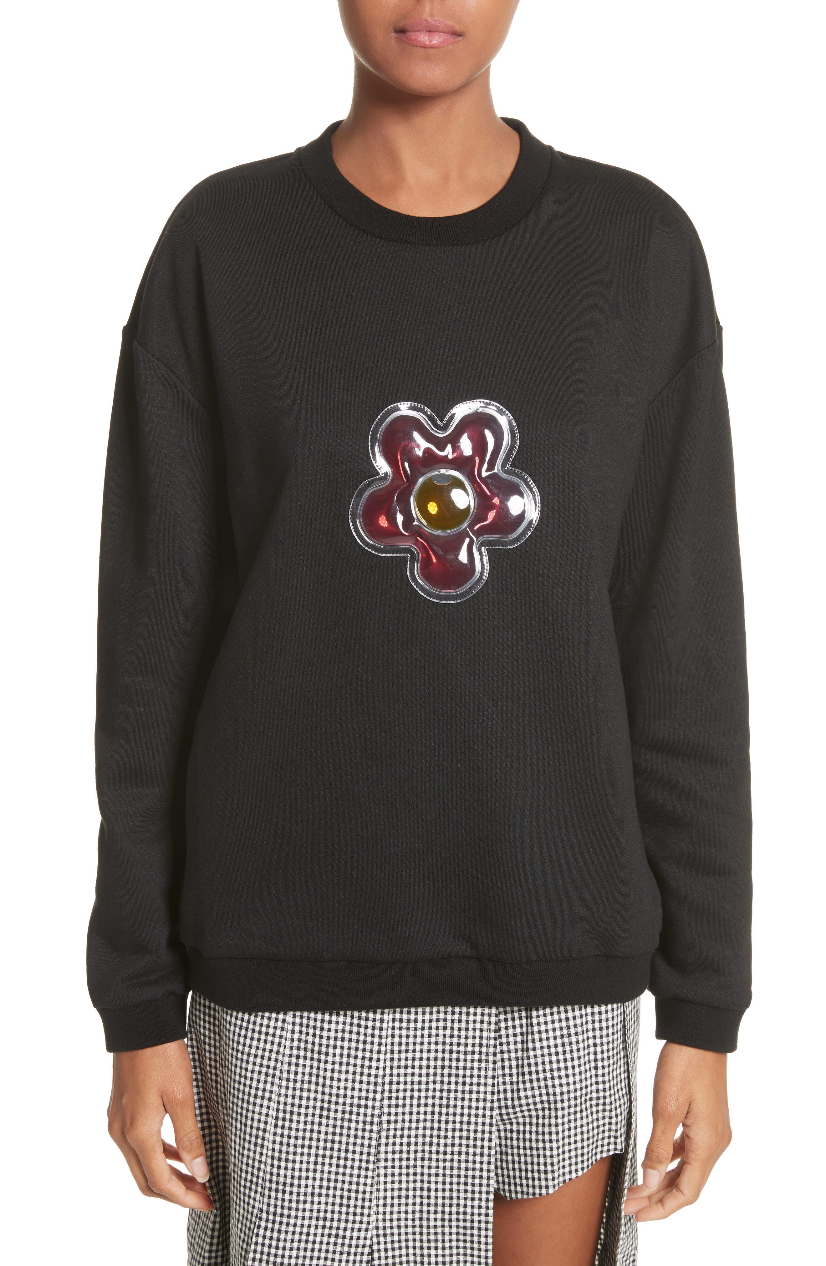 Sandy Liang Barnacles Flower Sweatshirt