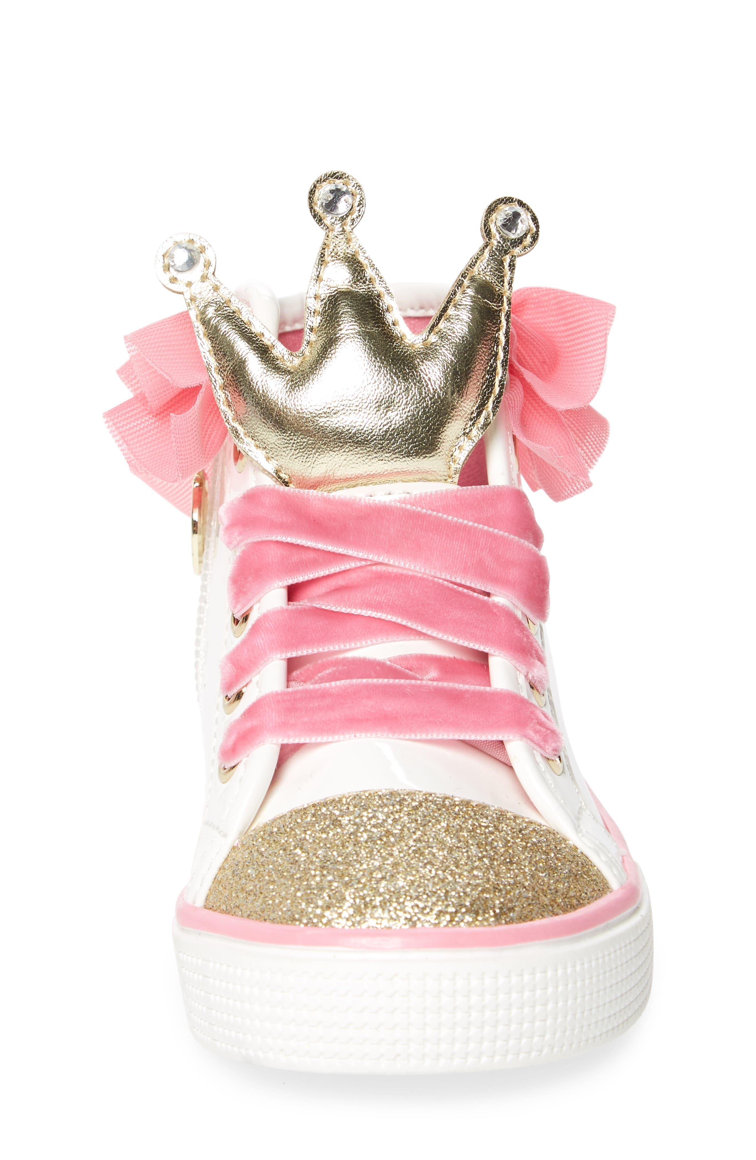 Alternate Image 4  - WellieWishers from American Girl Ashlyn Crown High Top Sneaker (Walker, Toddler, Little Kid & Big Kid)