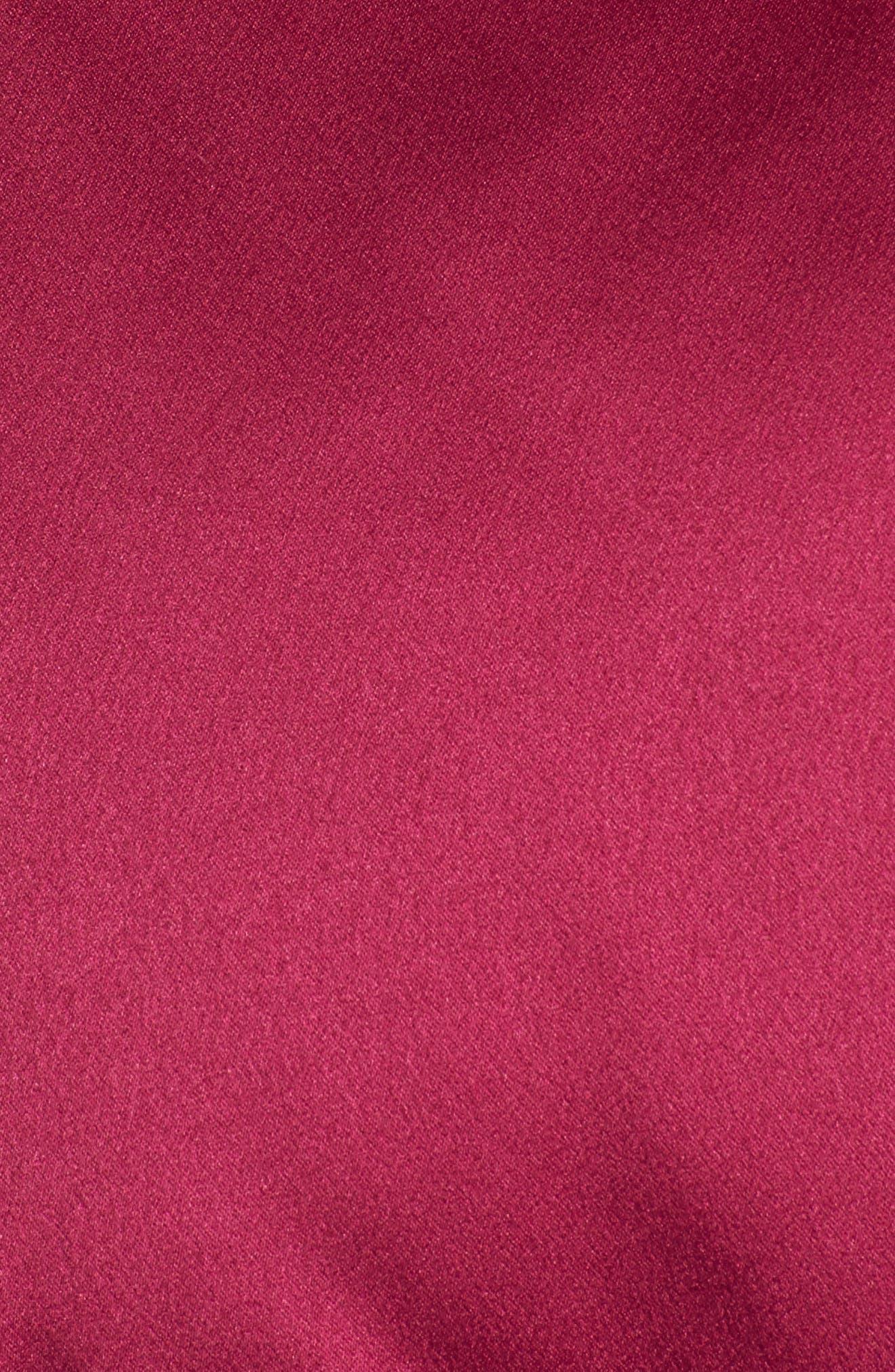 Satin Puffer Jacket,                             Alternate thumbnail 5, color,                             Bright Pink