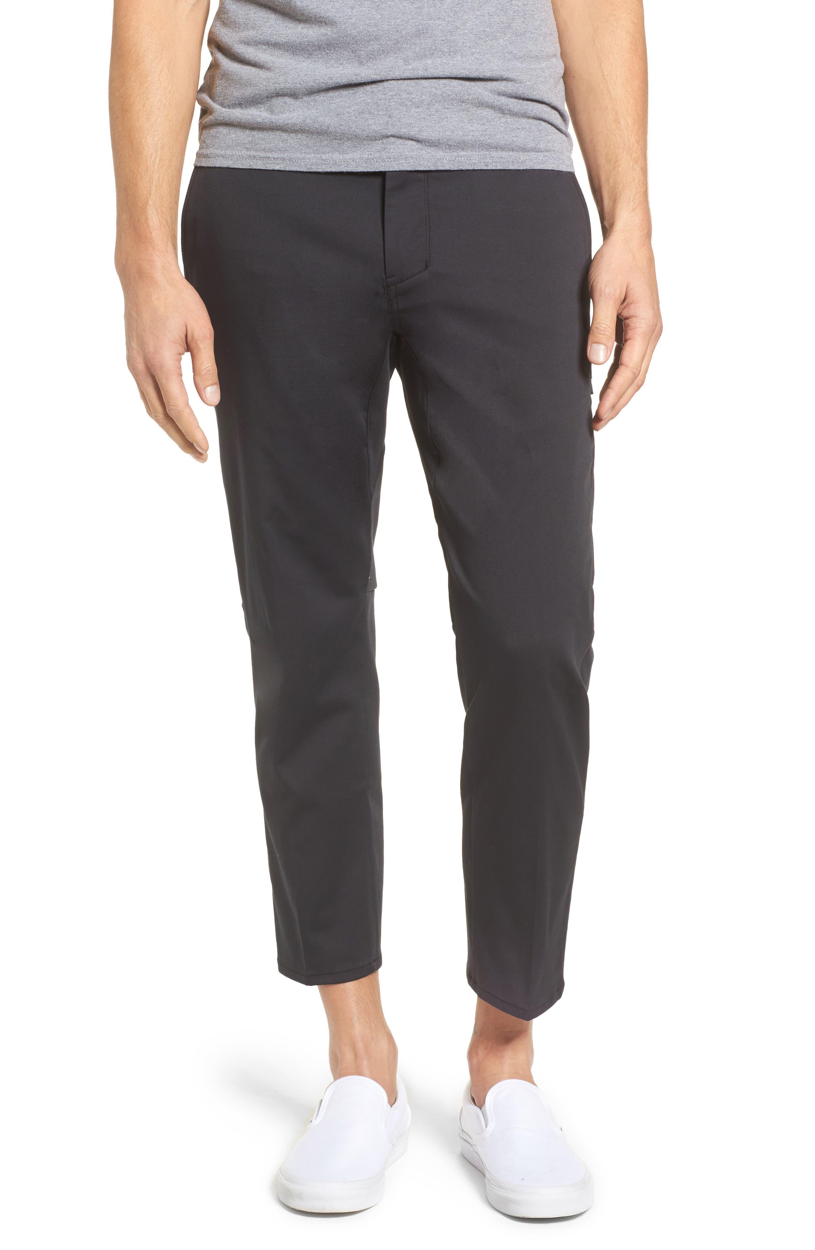 Covert Slim Fit Crop Pants,                             Main thumbnail 1, color,                             Black