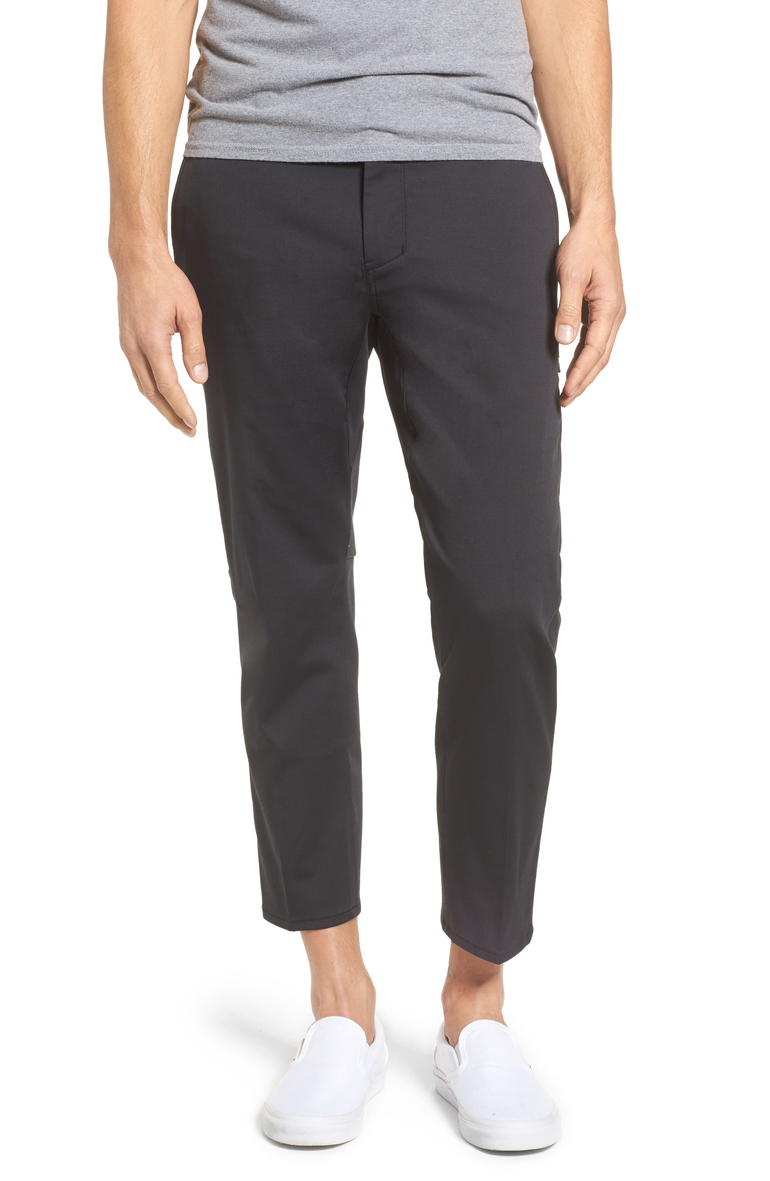 Covert Slim Fit Crop Pants,                         Main,                         color, Black