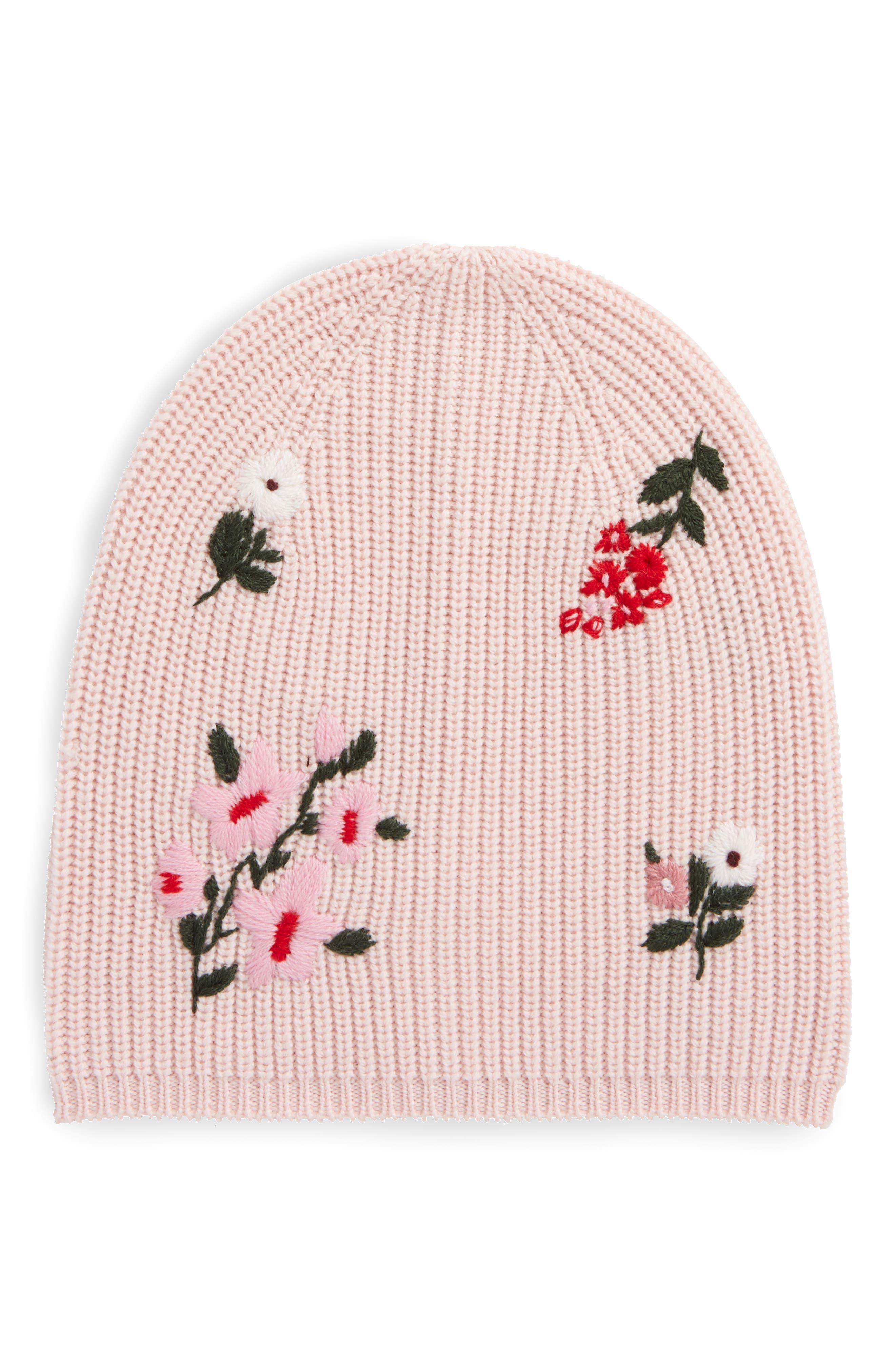 kate spade new york in bloom merino wool knit beanie