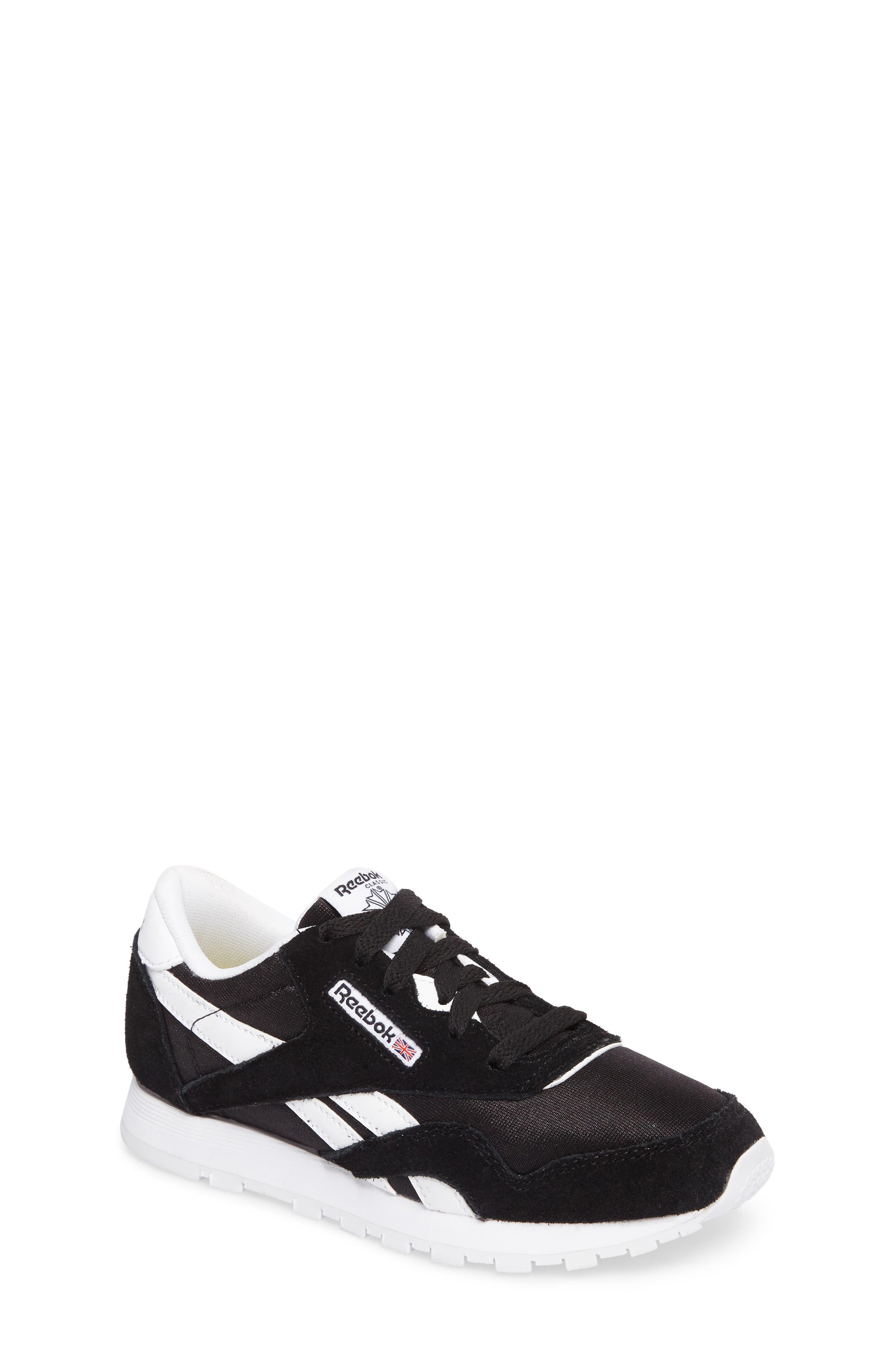 Classic Nylon Sneaker,                             Main thumbnail 1, color,                             Black/ White