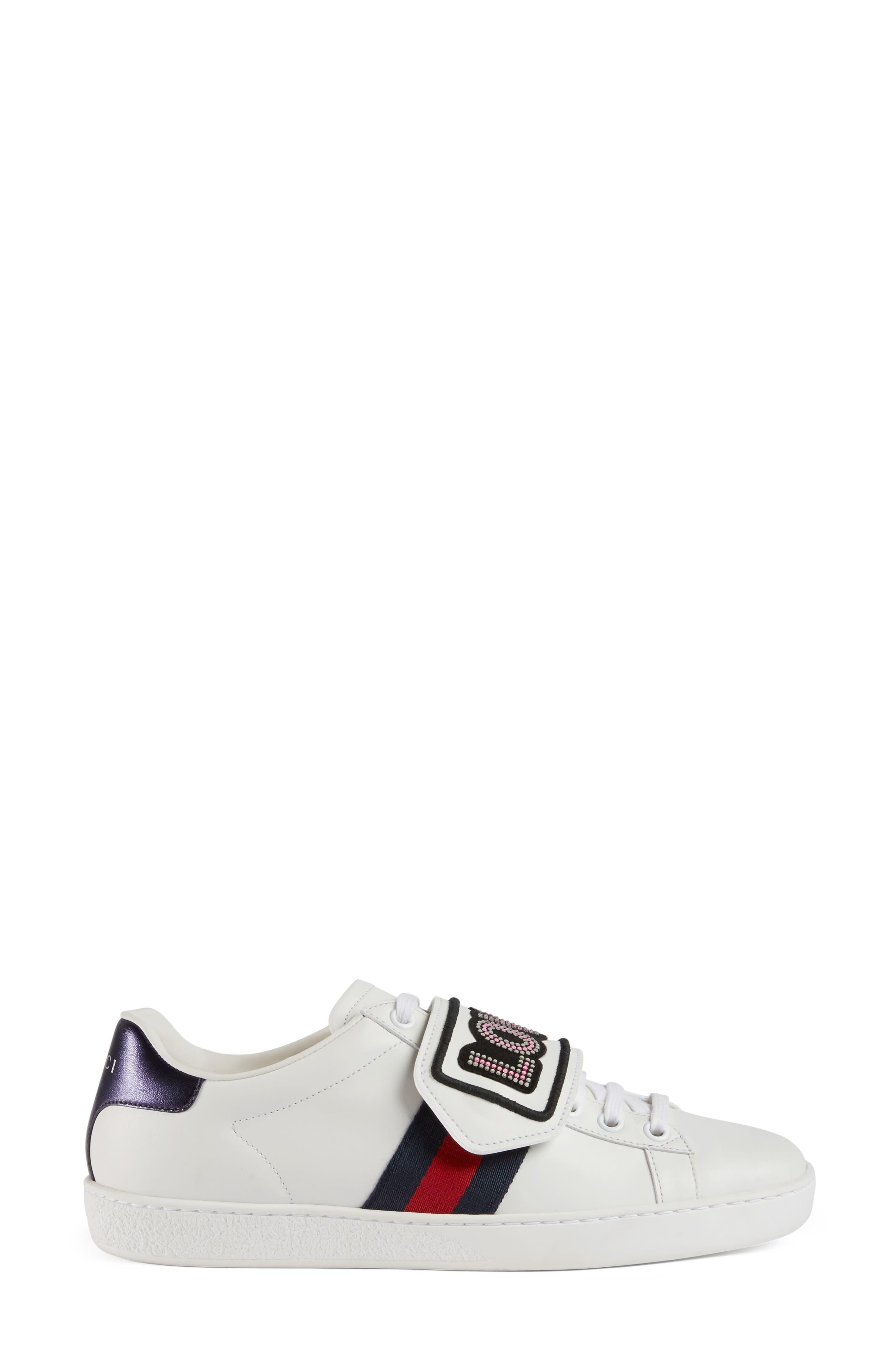New Ace Loved Sneaker,                             Alternate thumbnail 5, color,                             White