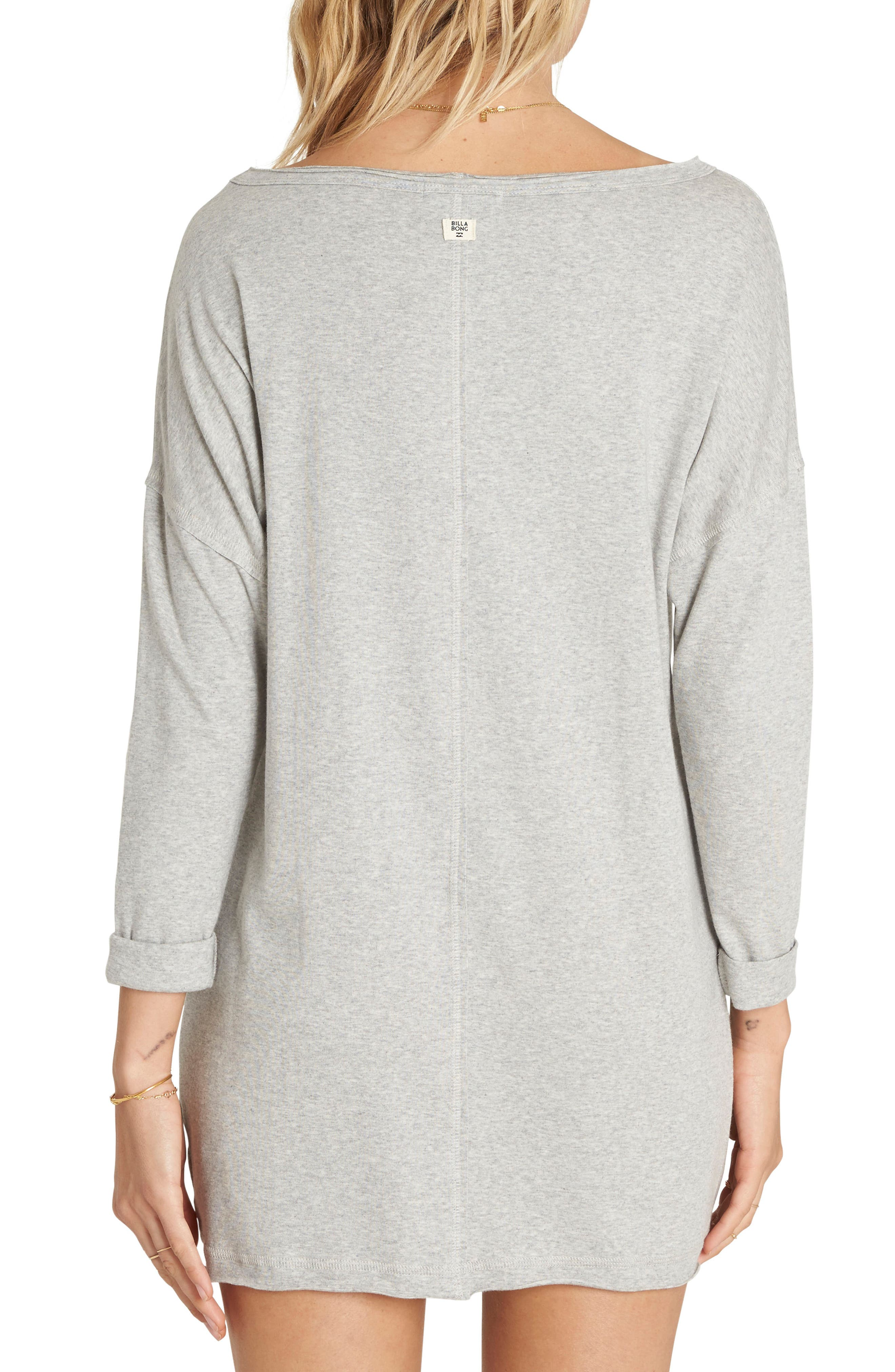Only One T-Shirt Dress,                             Alternate thumbnail 2, color,                             Athletic Grey