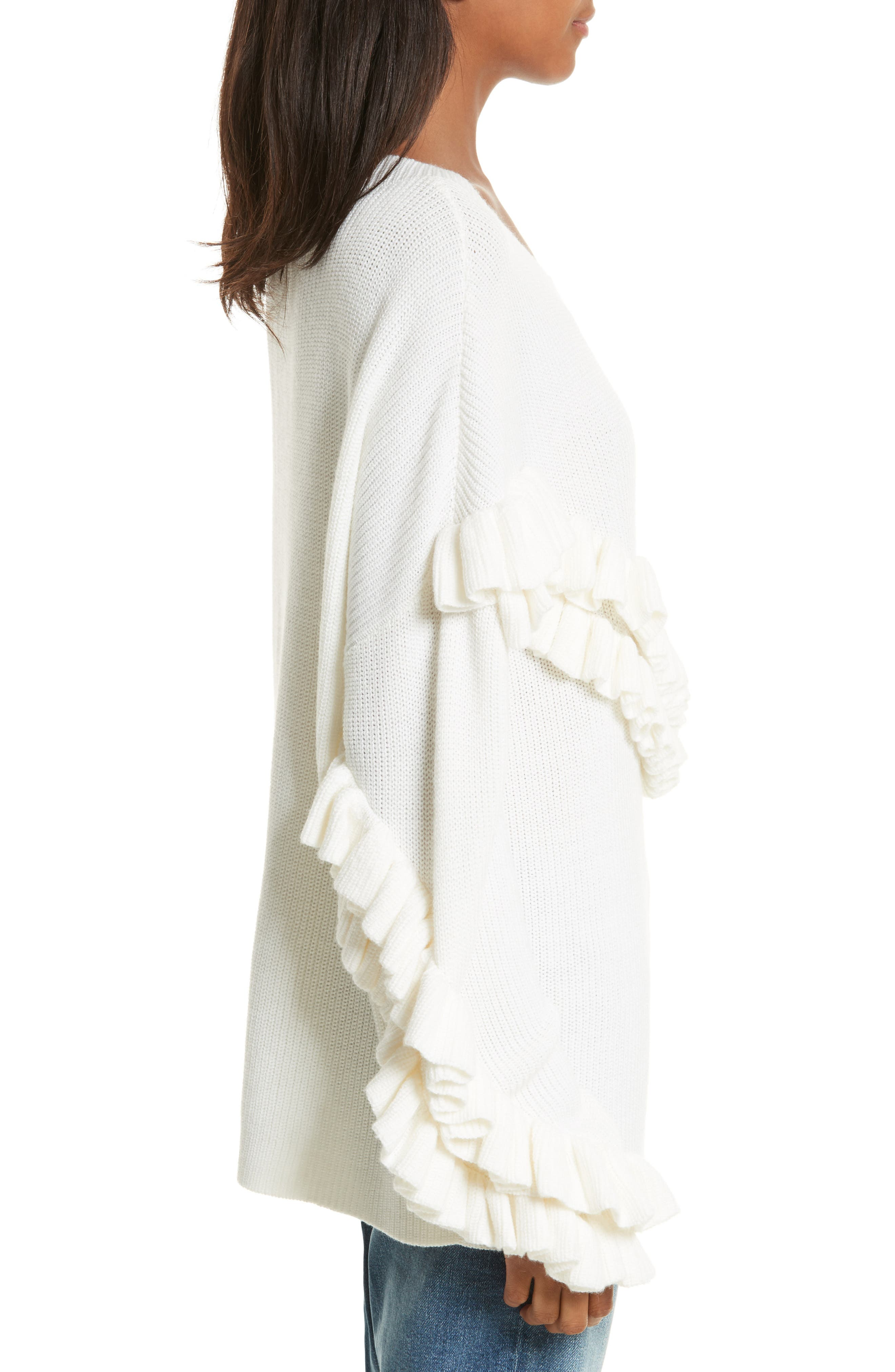 Alternate Image 3  - FRAME Ruffle Dolman Sweater