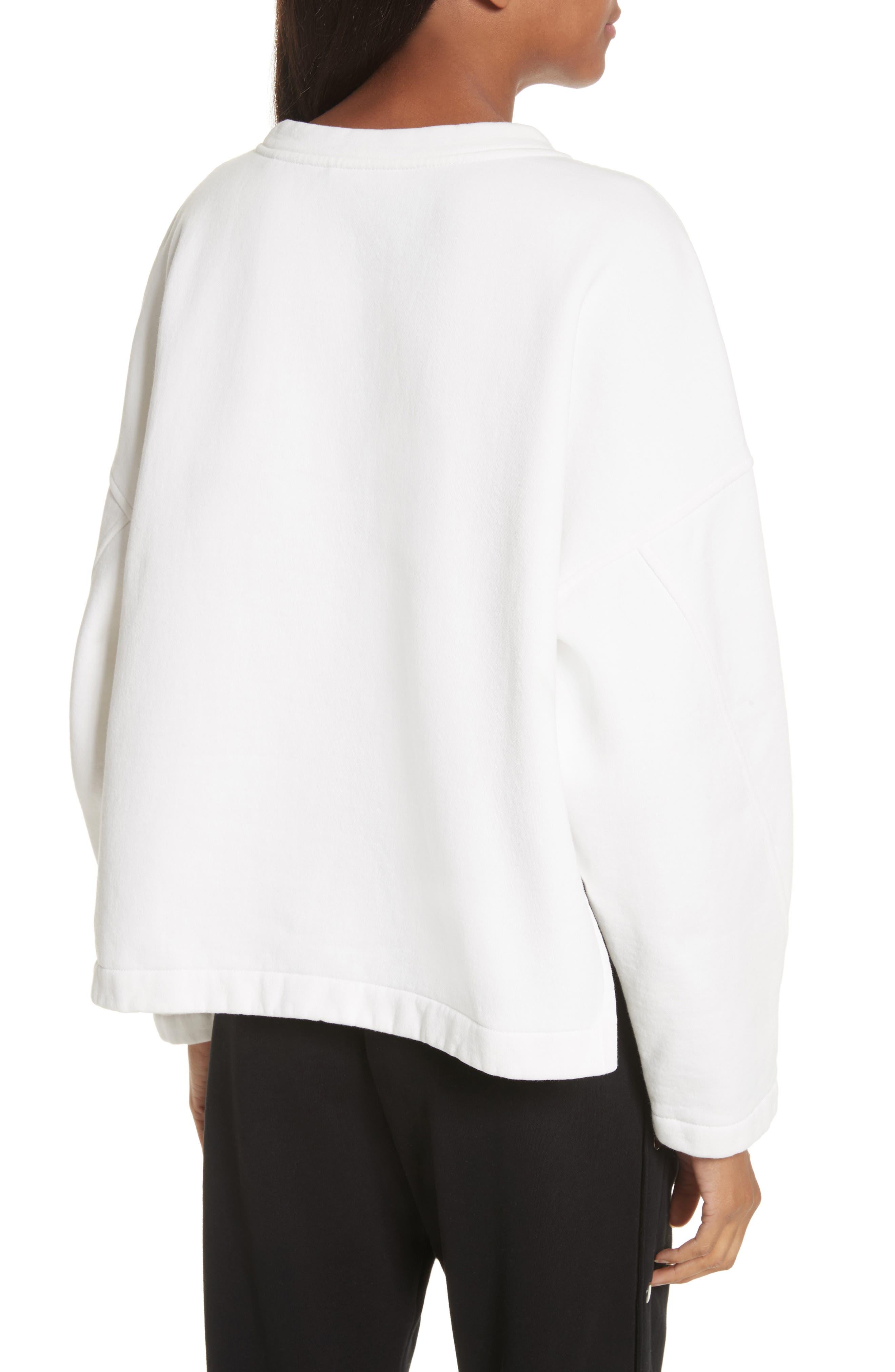 Mock Neck Sweatshirt,                             Alternate thumbnail 2, color,                             Vanilla