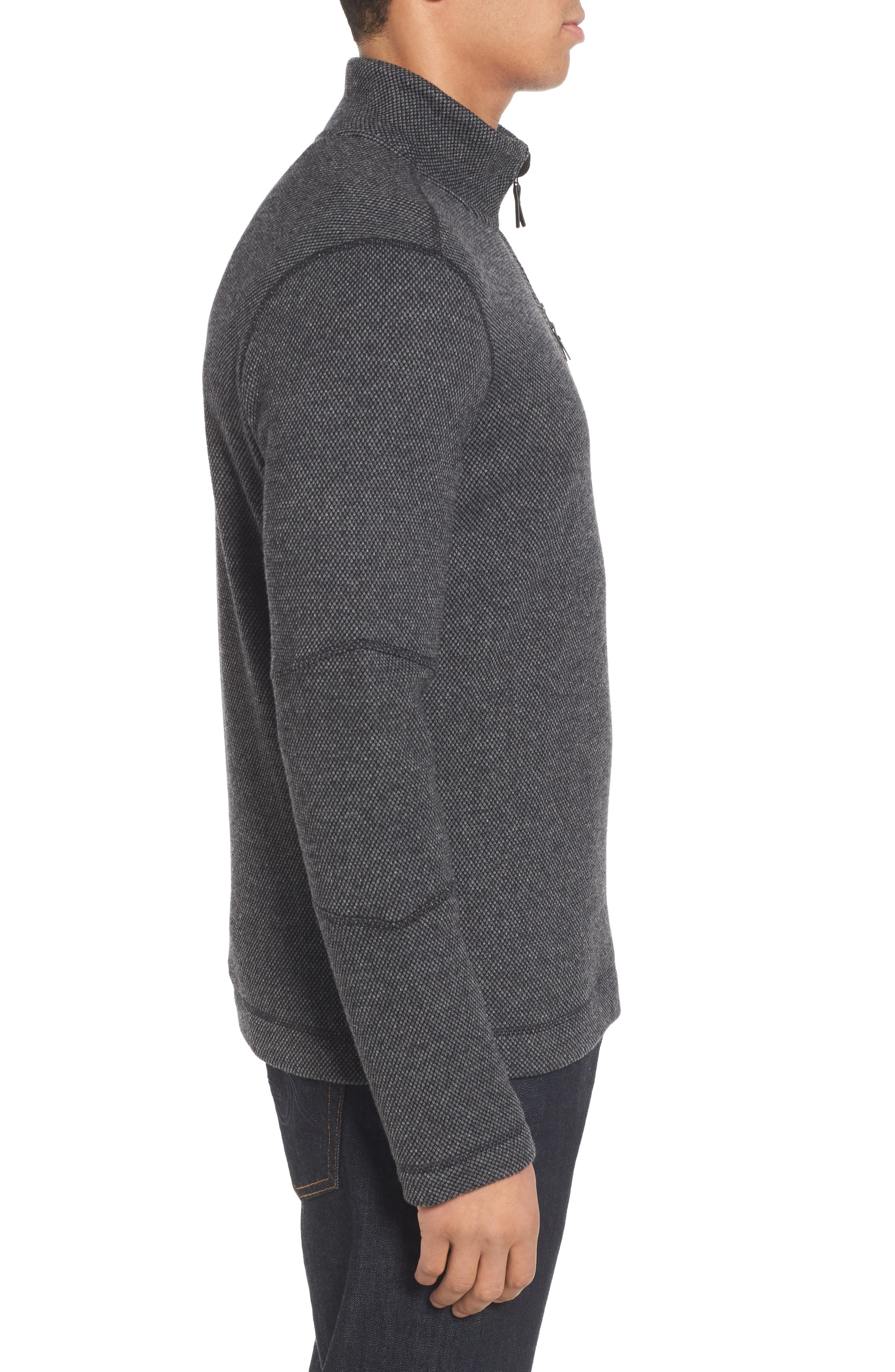 Heritage Trail Fleece Pullover,                             Alternate thumbnail 3, color,                             Charcoal Heather