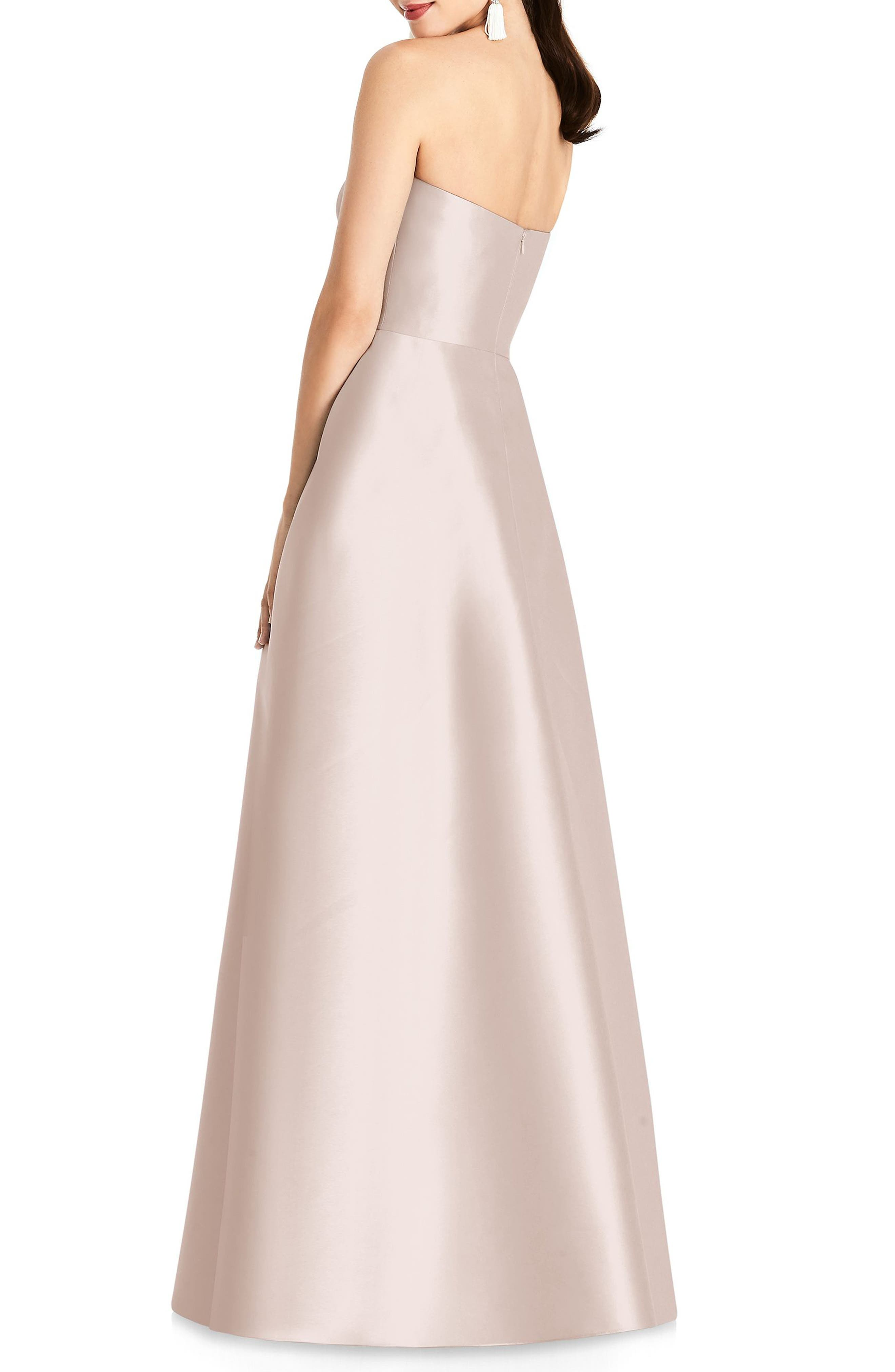 Alternate Image 2  - Alfred Sung Strapless Sateen Gown