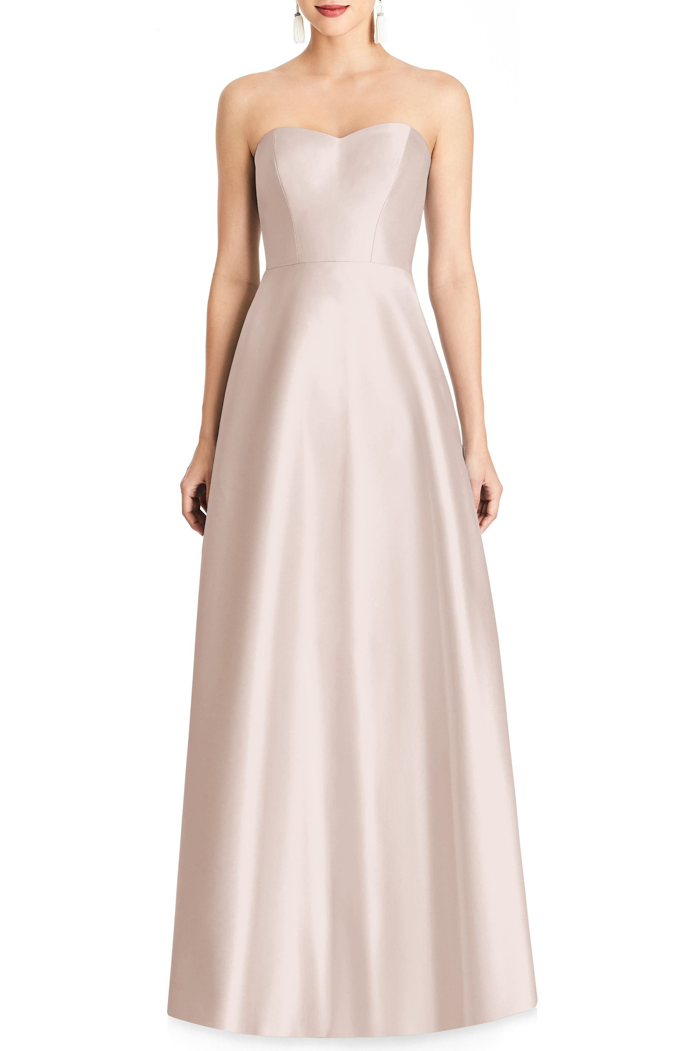 Alfred sung bridesmaid wedding party dresses nordstrom alfred sung strapless sateen gown ombrellifo Gallery
