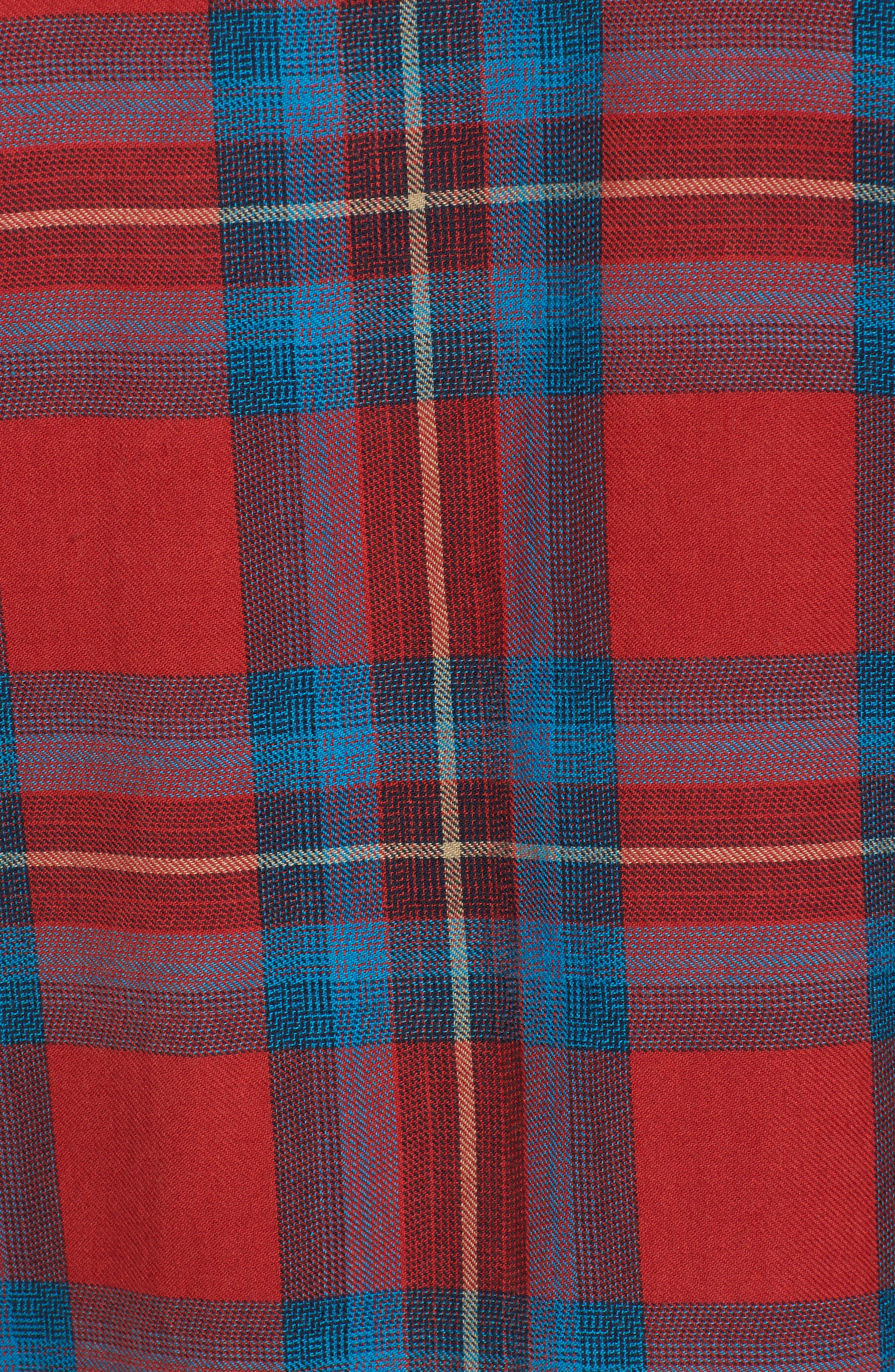 Freemont Flannel Shirt,                             Alternate thumbnail 5, color,                             Red