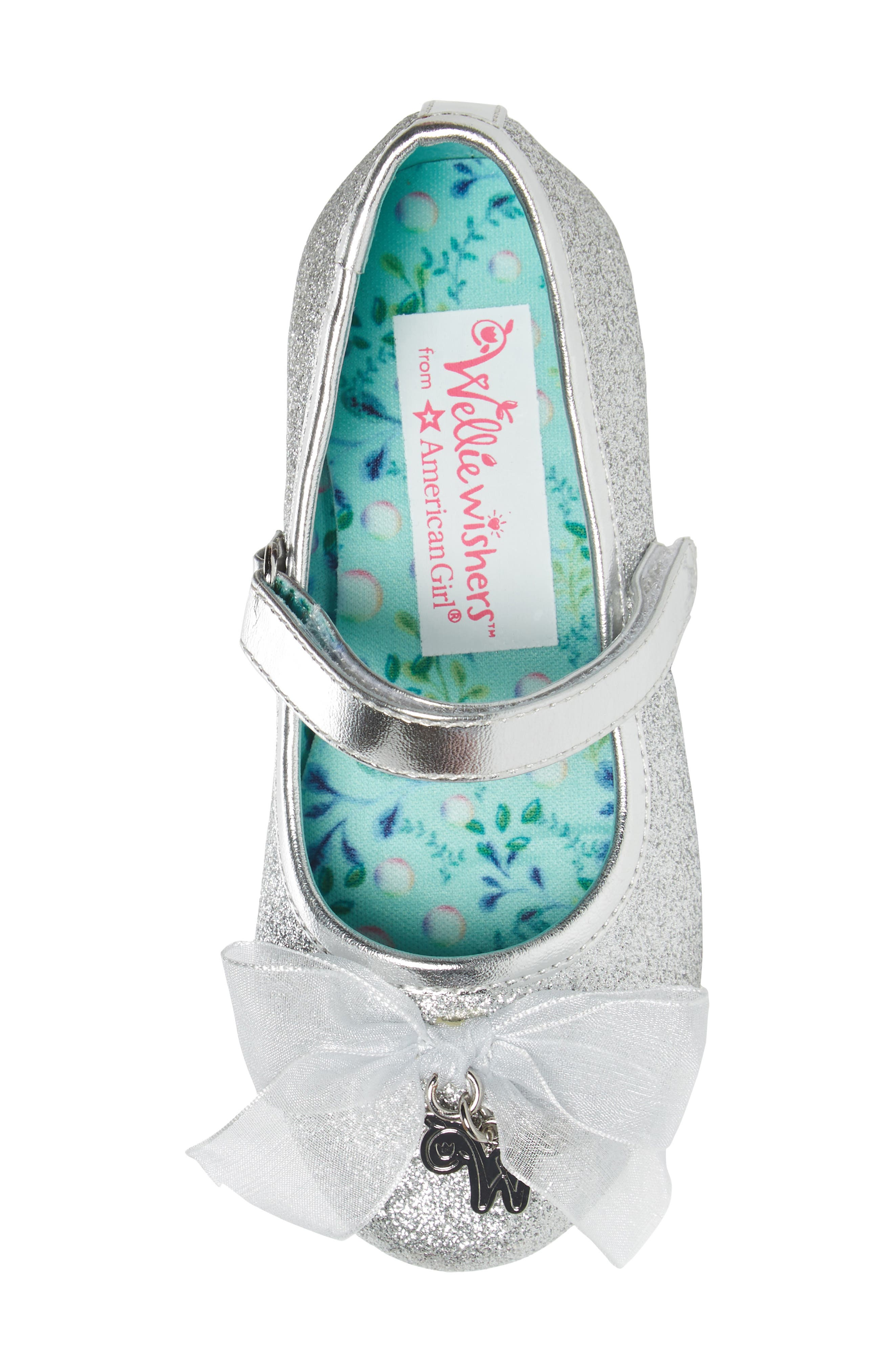 Camille Glitter Ballet Flat,                             Alternate thumbnail 5, color,                             Silver