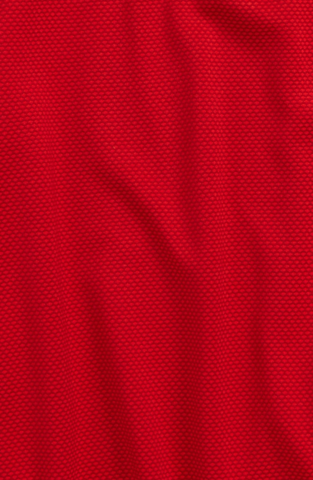 Textured Quarter Zip Top,                             Alternate thumbnail 2, color,                             Red/ Black