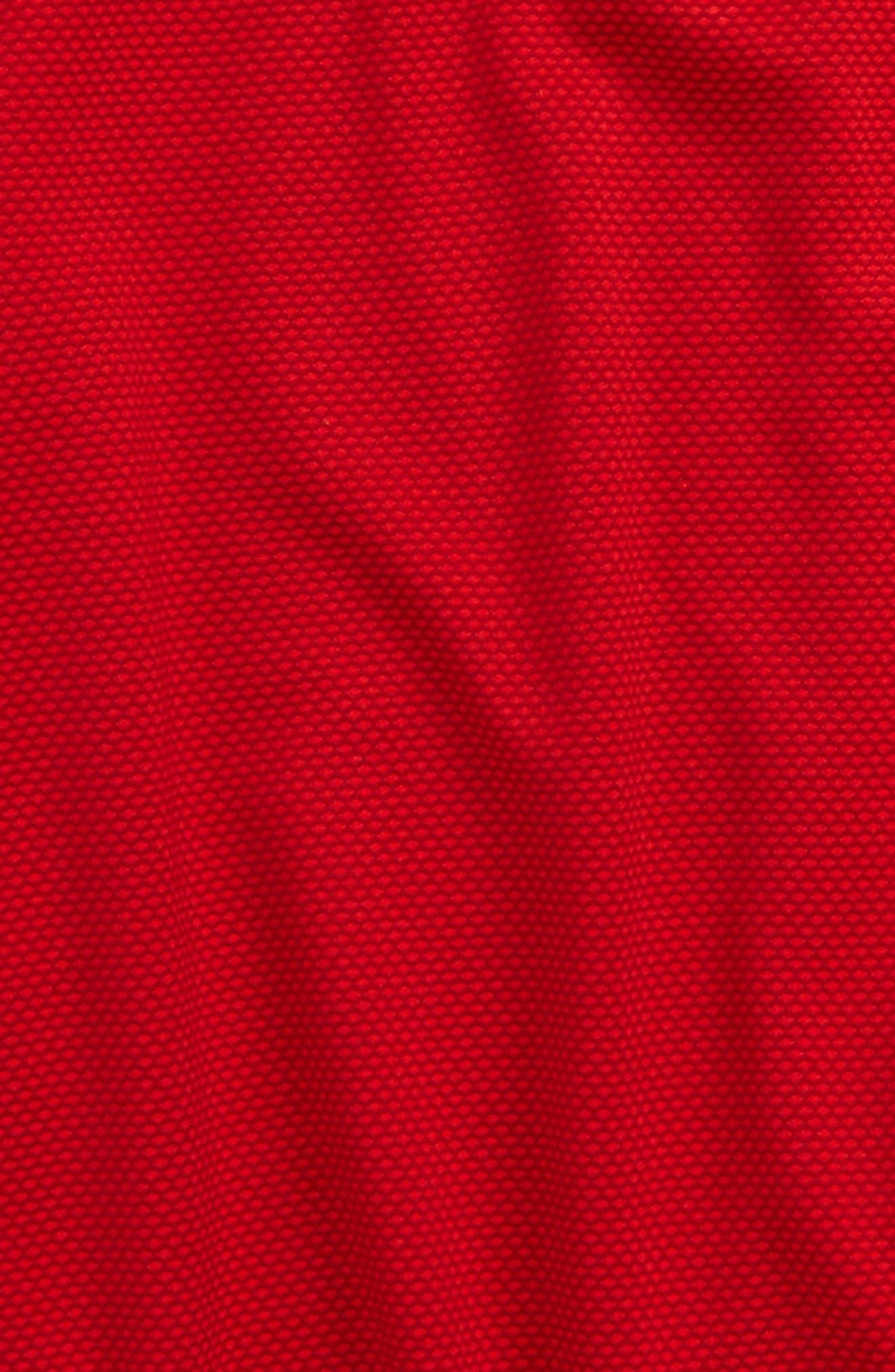 Textured Quarter Zip Top,                             Alternate thumbnail 2, color,                             Red/ Black