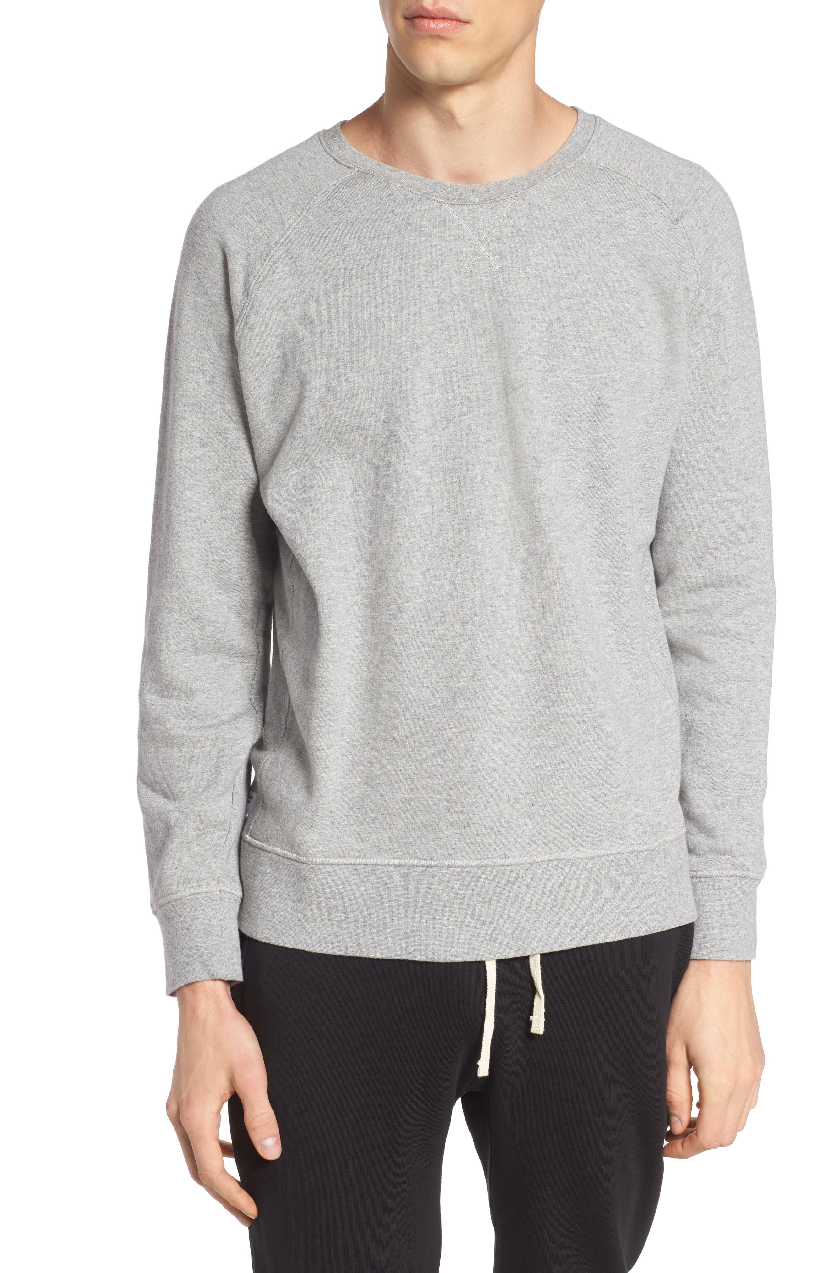 Lounge Crewneck Sweatshirt,                         Main,                         color, Heather Grey