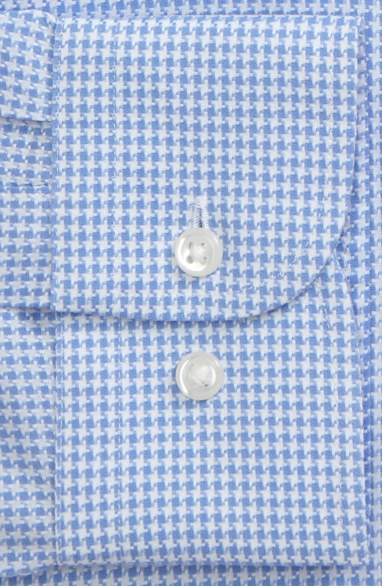 Smartcare<sup>™</sup> Trim Fit Houndstrooth Dress Shirt,                             Alternate thumbnail 2, color,                             Blue Bell