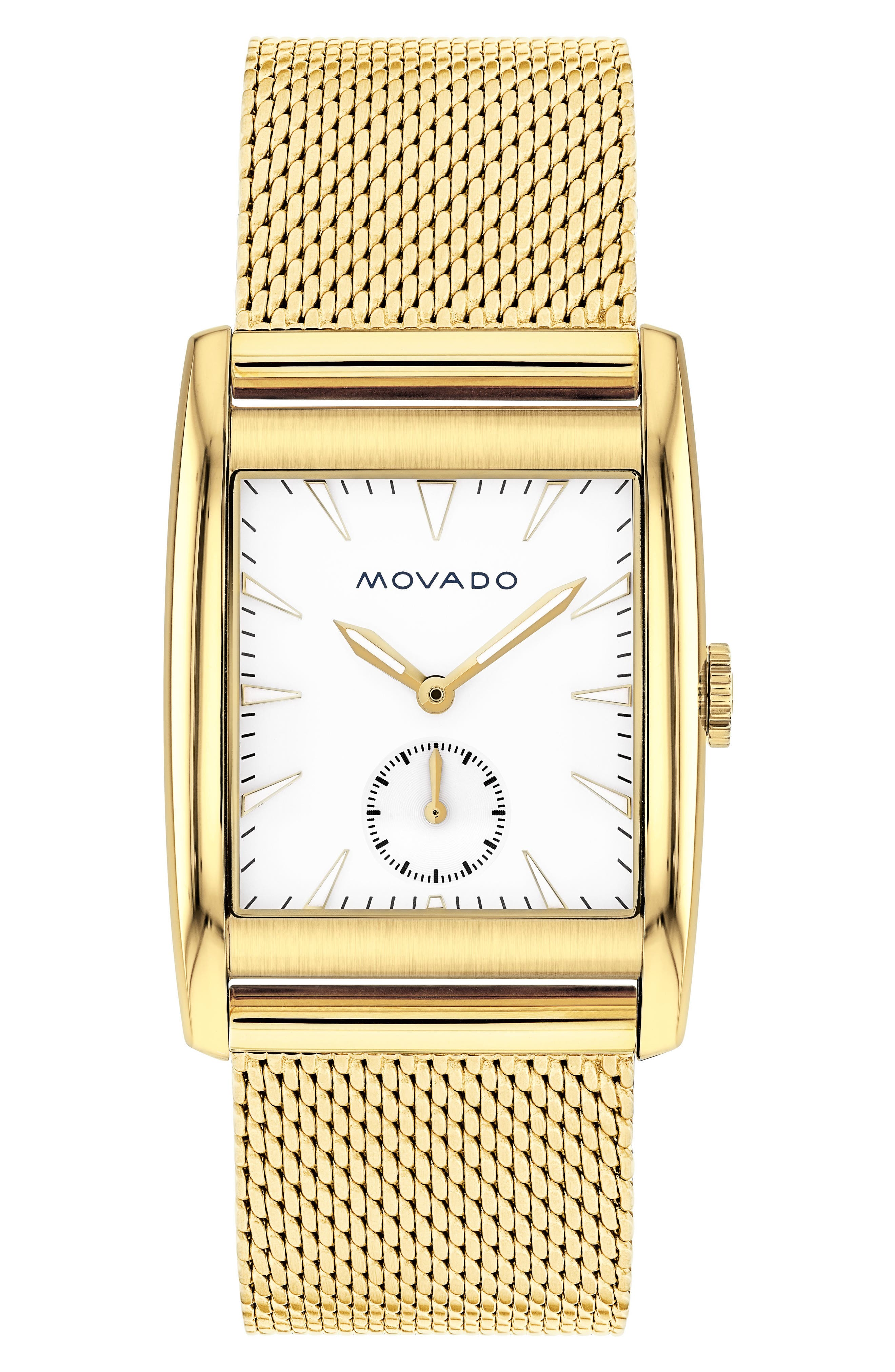 Heritage Mesh Strap Watch, 41mm,                             Main thumbnail 1, color,                             Gold/ White/ Gold