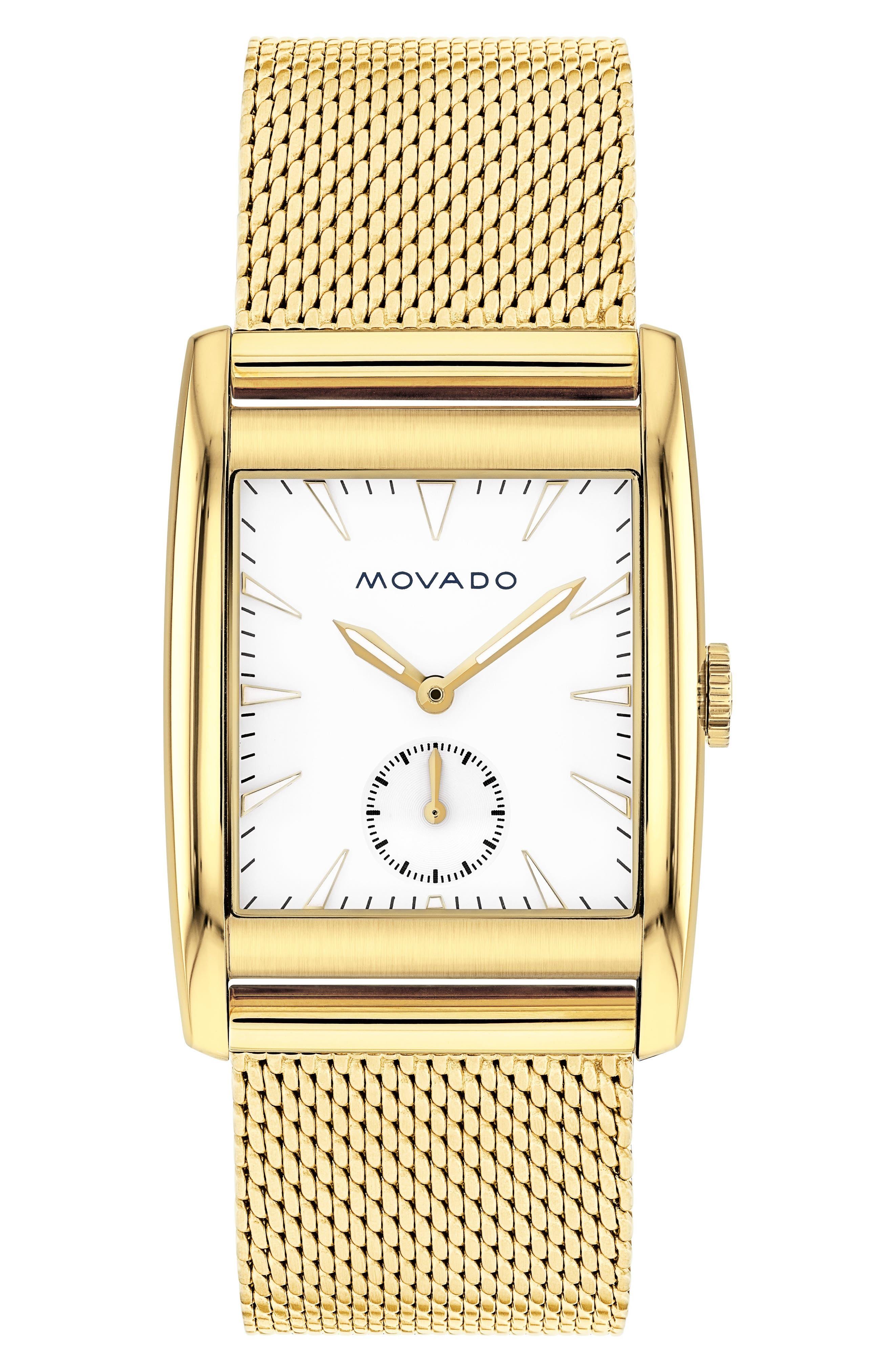 Main Image - Movado Heritage Mesh Strap Watch, 41mm
