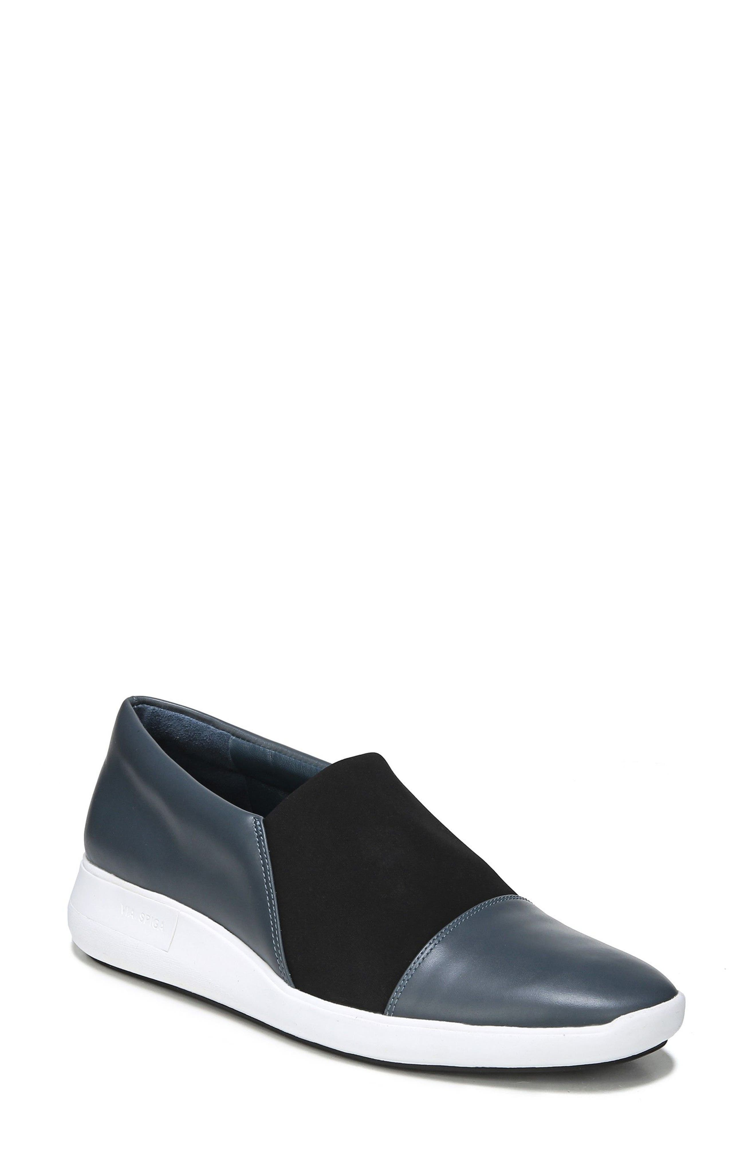 Morgan Slip-On Sneaker,                             Main thumbnail 1, color,                             Air Force Blue Leather