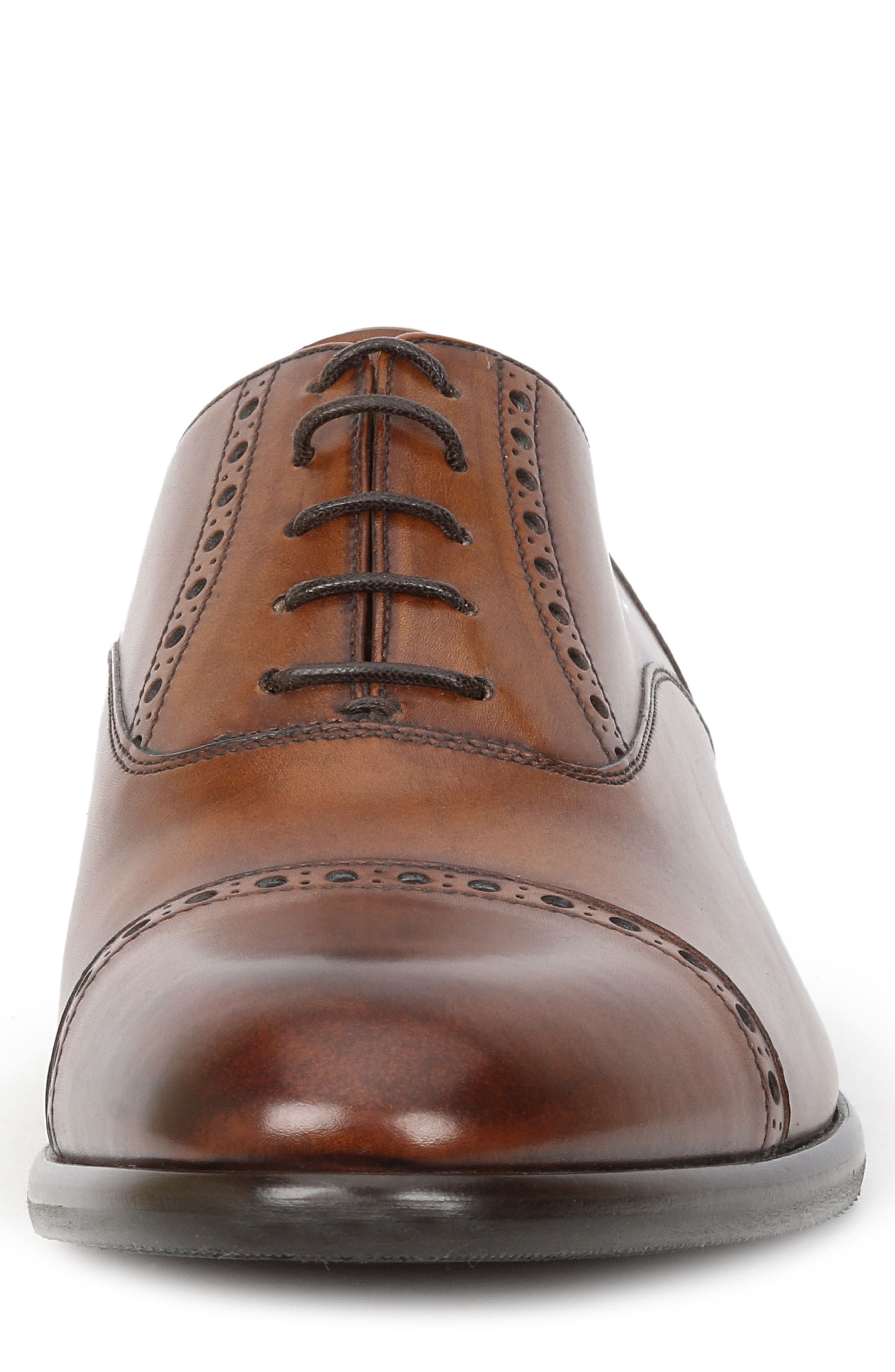 Pisa Cap Toe Oxford,                             Alternate thumbnail 4, color,                             Cognac