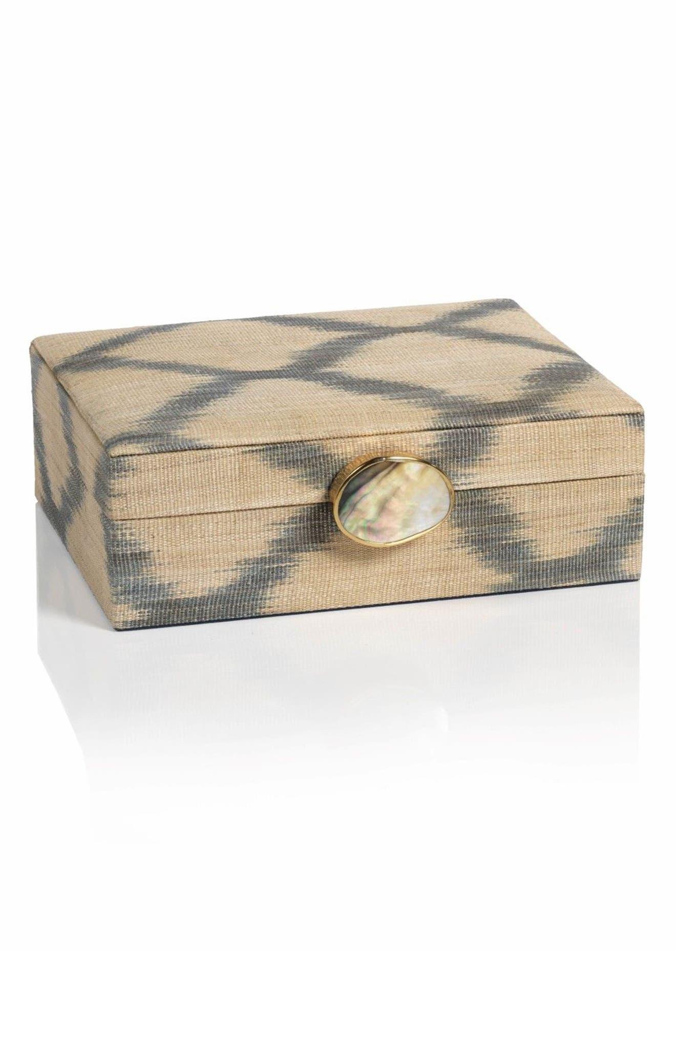 Small Ikat Storage Box,                         Main,                         color, Beige/ Gray