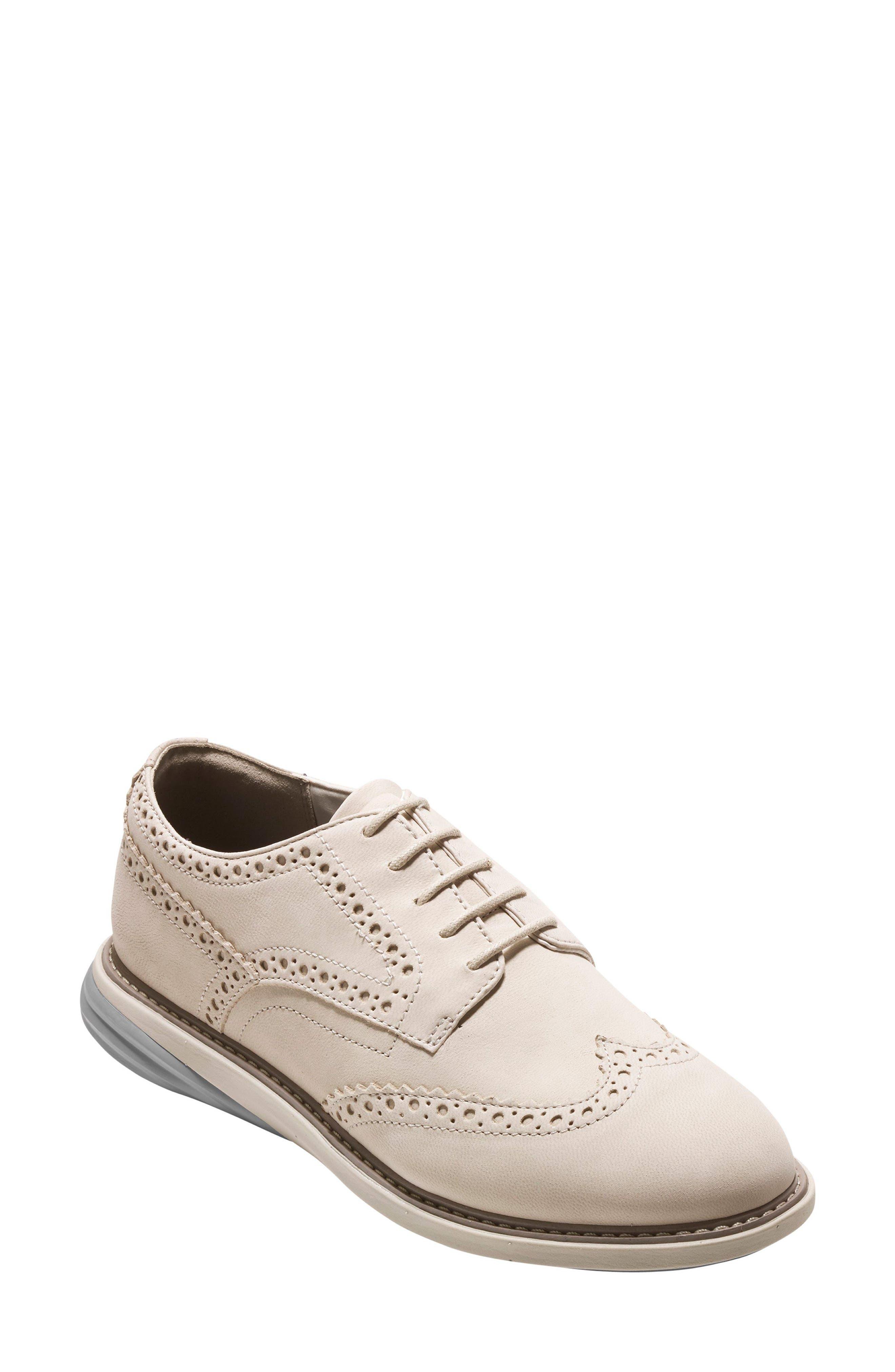 Grandevolution Shortwing Oxford Sneaker,                         Main,                         color, Pumice Stone Nubuck