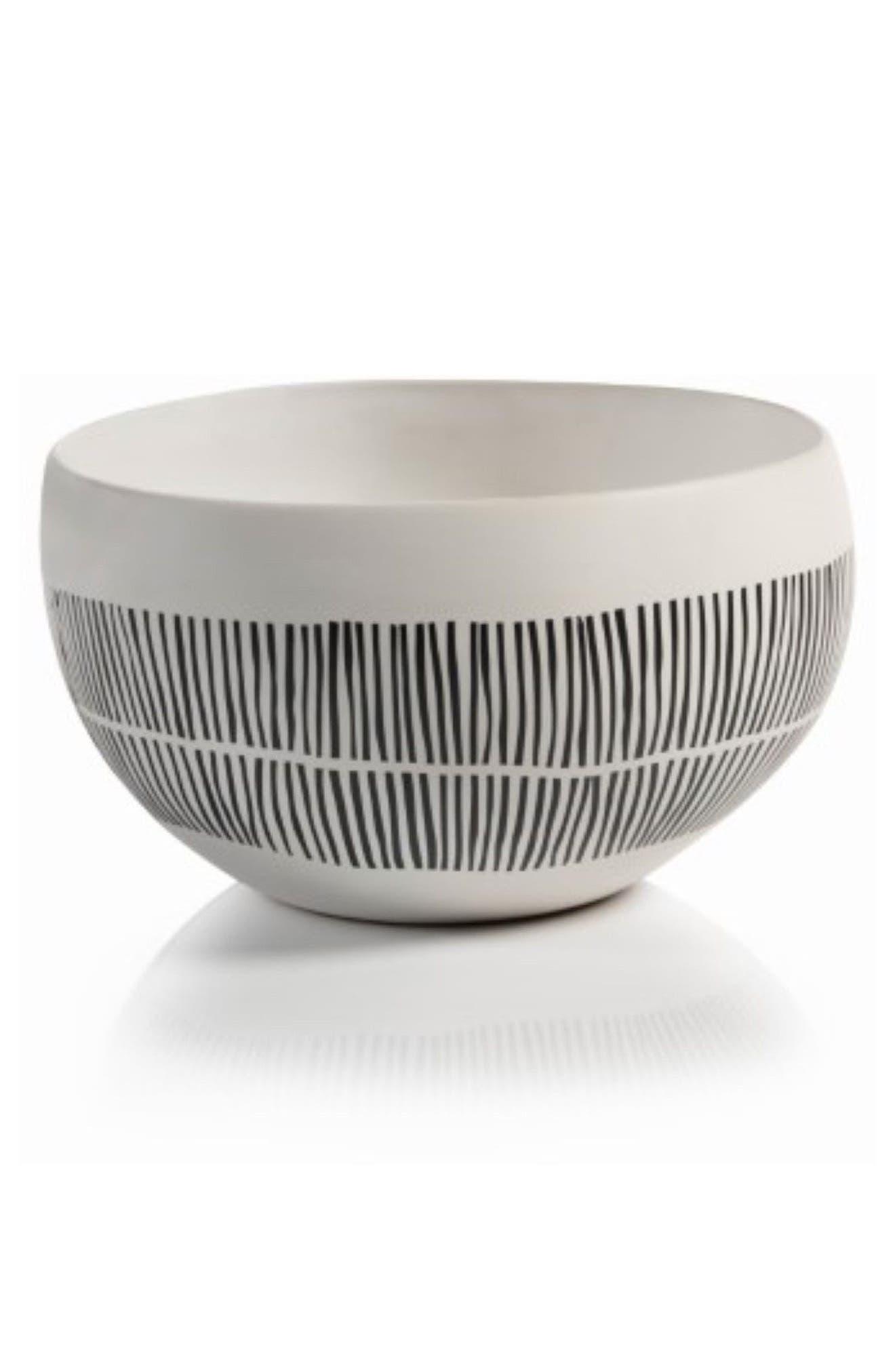 Marquesa Ceramic Bowl,                         Main,                         color, White