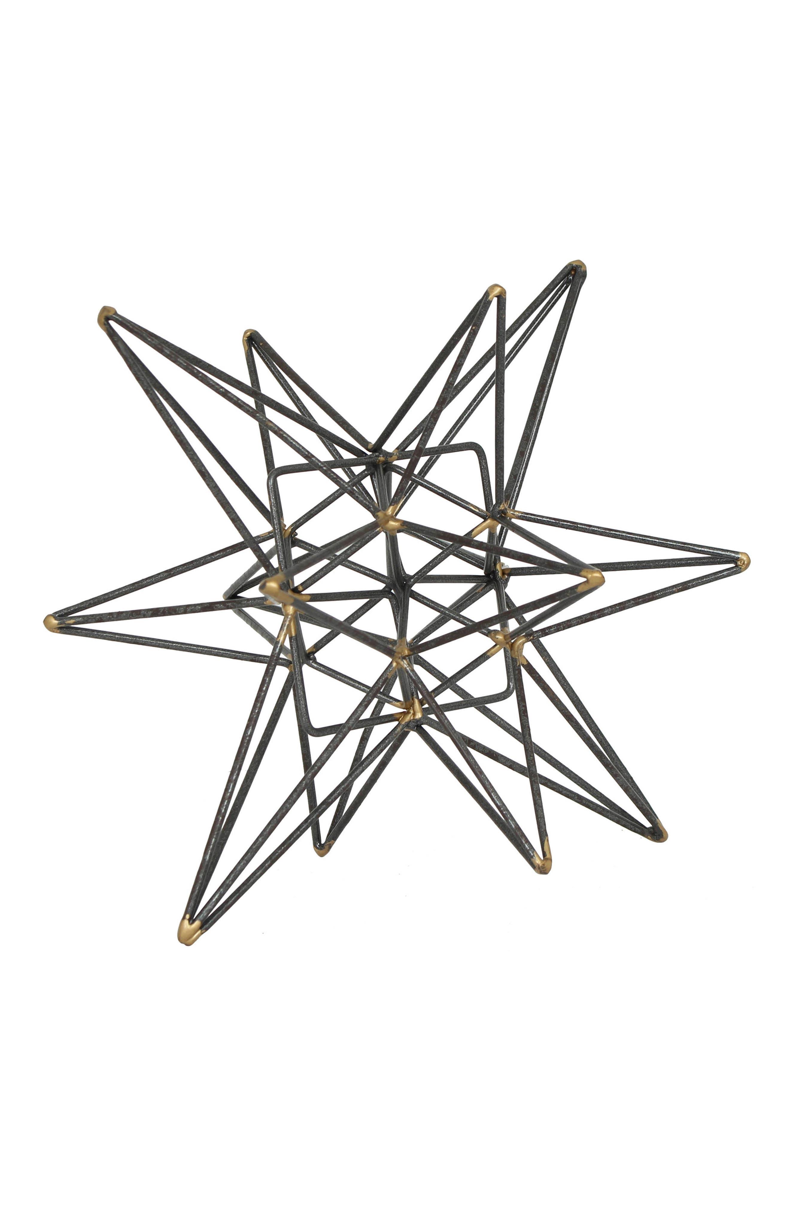 Star Sculpture,                         Main,                         color, Metallic Silver