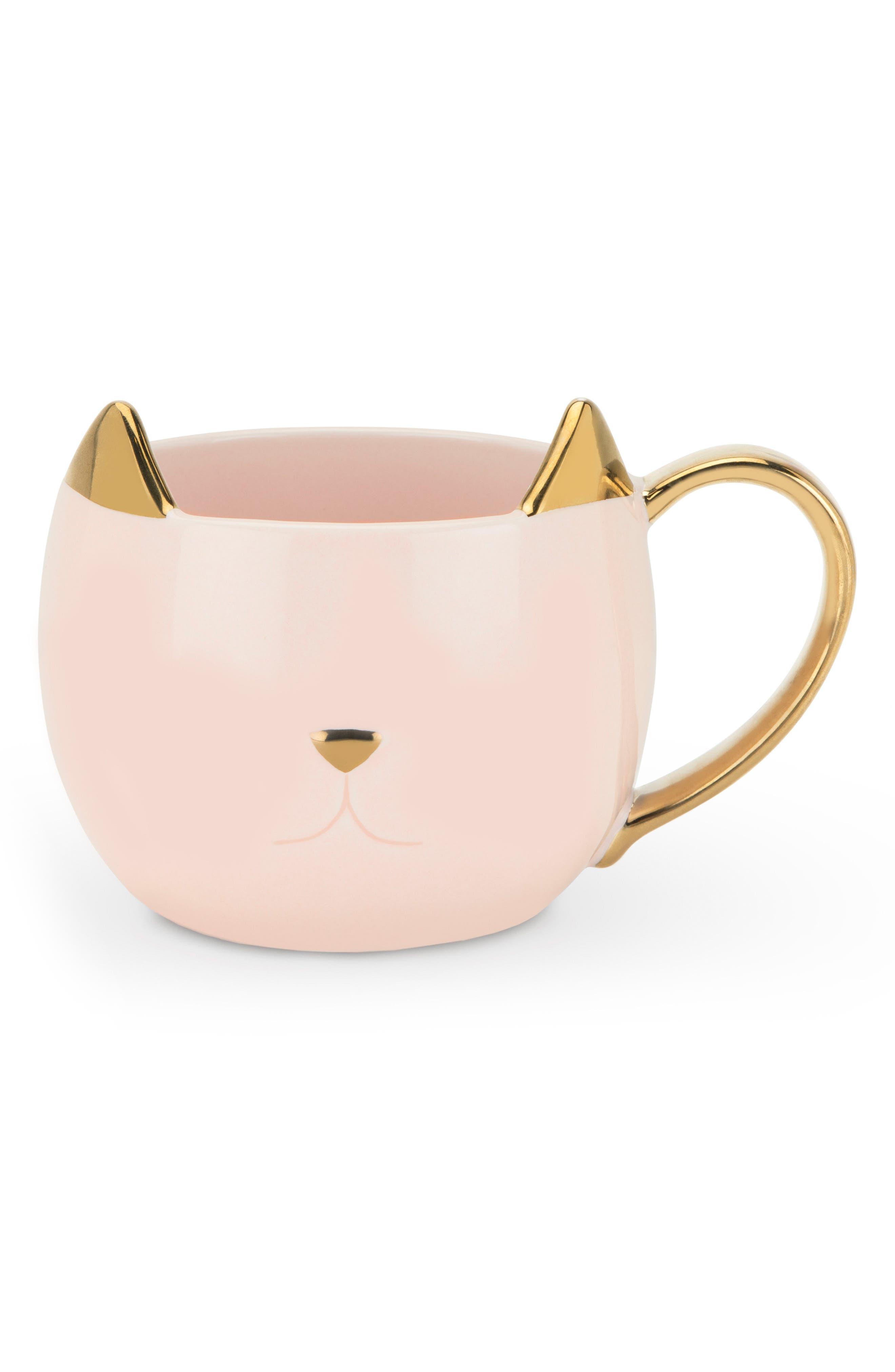 Main Image - Pinky Up Chloe Cat Ceramic Mug