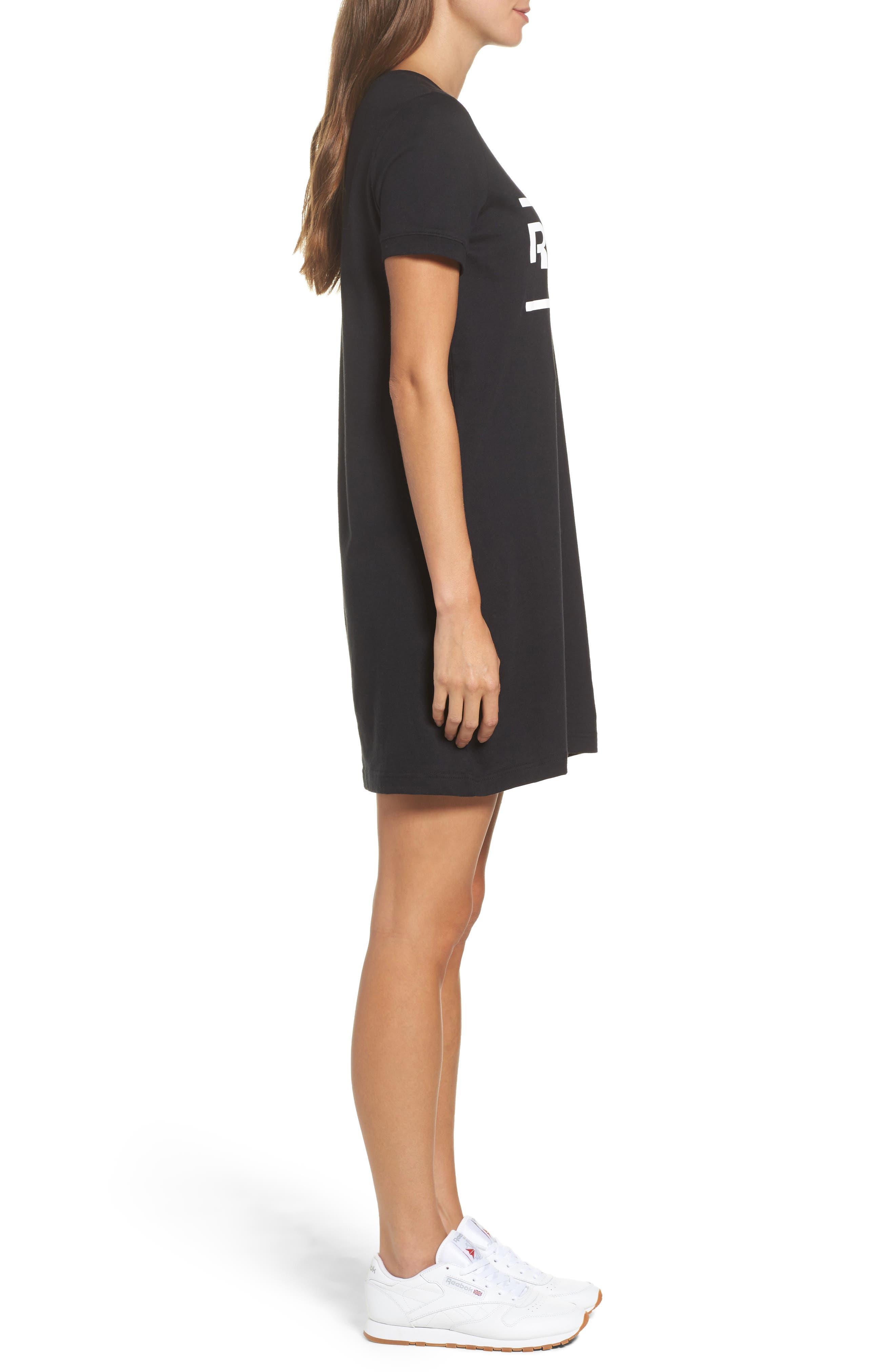 Classics T-Shirt Dress,                             Alternate thumbnail 3, color,                             Black