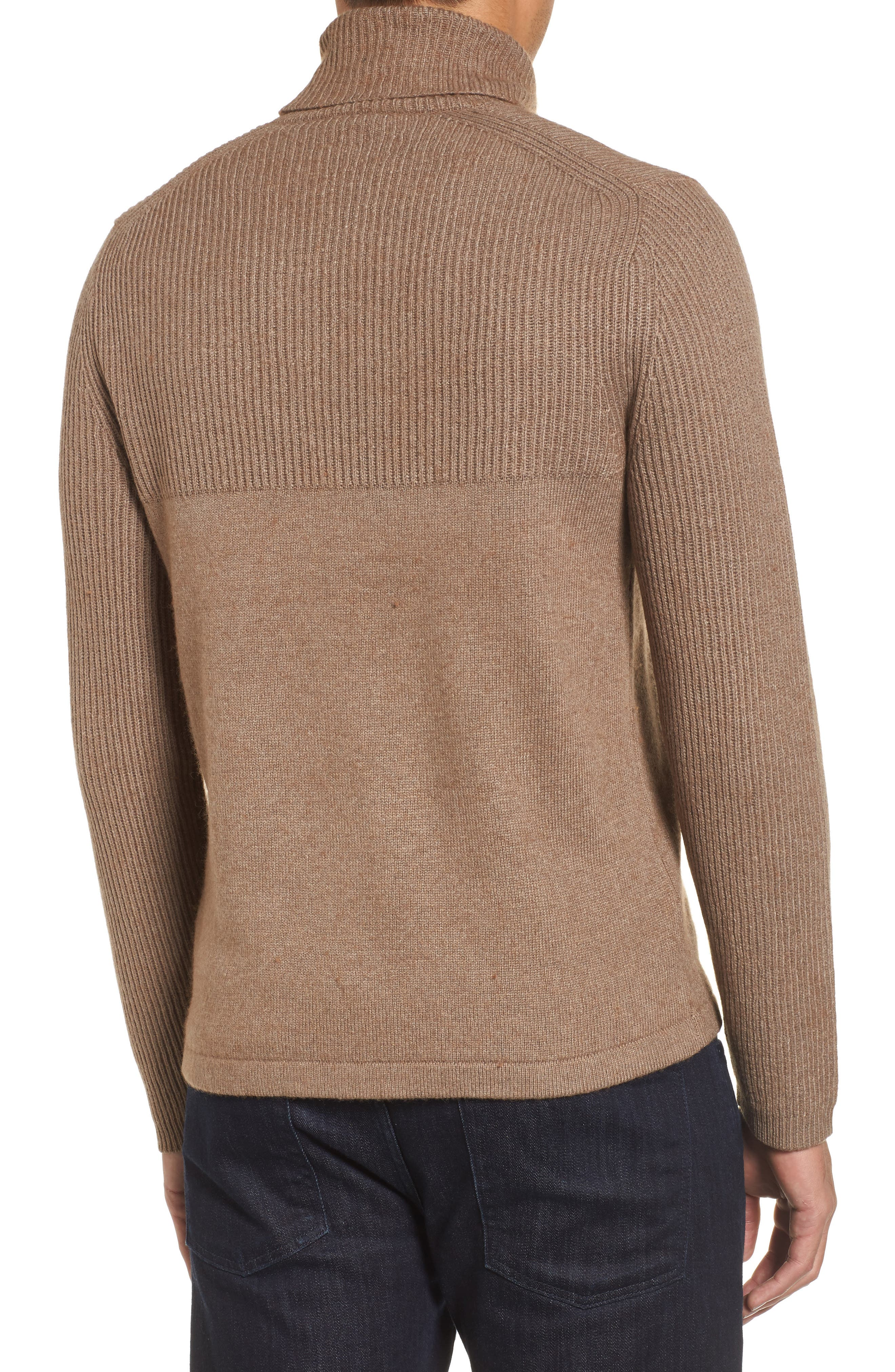 Alternate Image 2  - Zachary Prell Mix Stitch Turtleneck Sweater