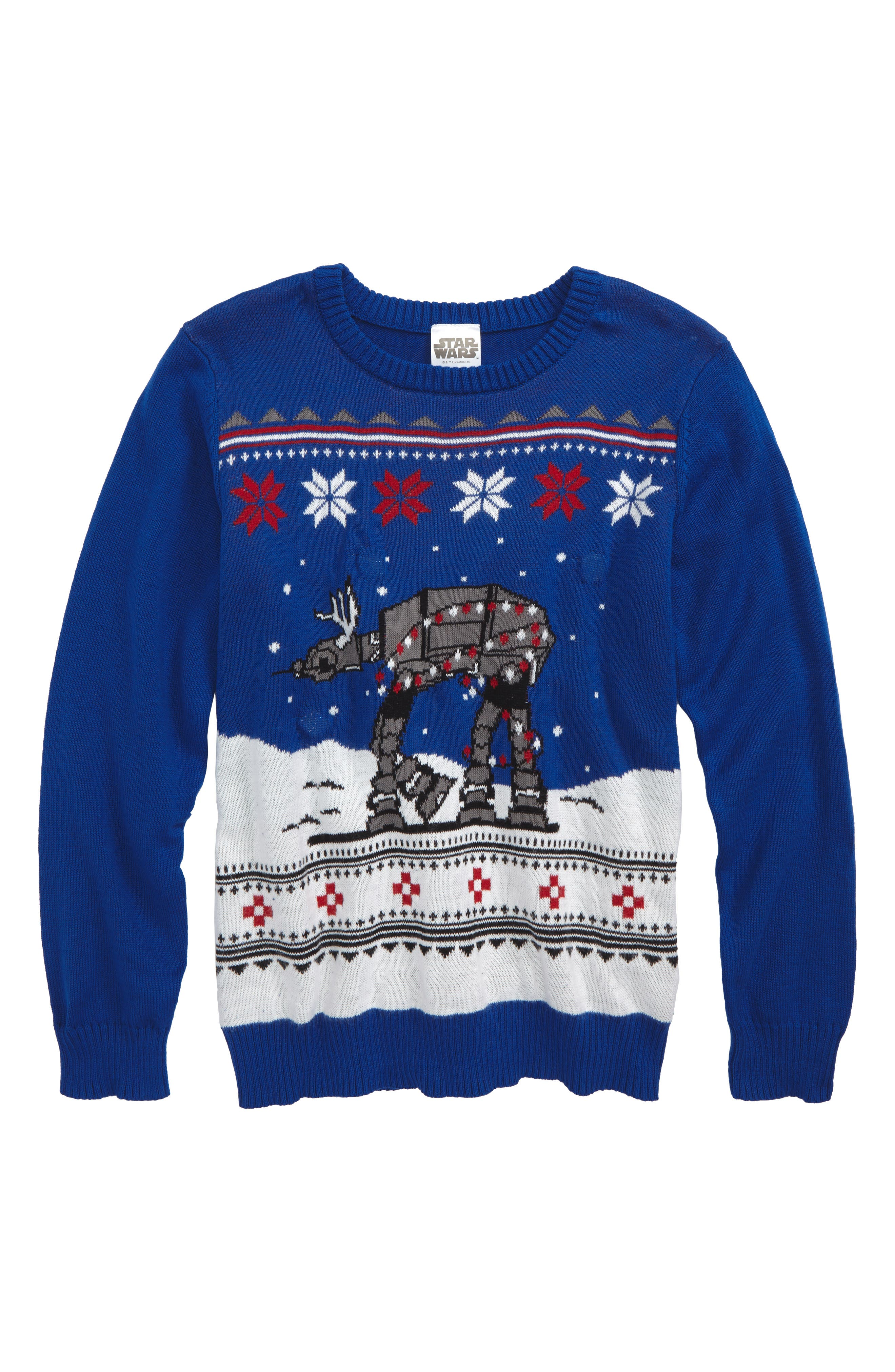 Jem Star Wars™ Light-Up Holiday Sweater (Toddler Boys, Little Boys & Big Boys)