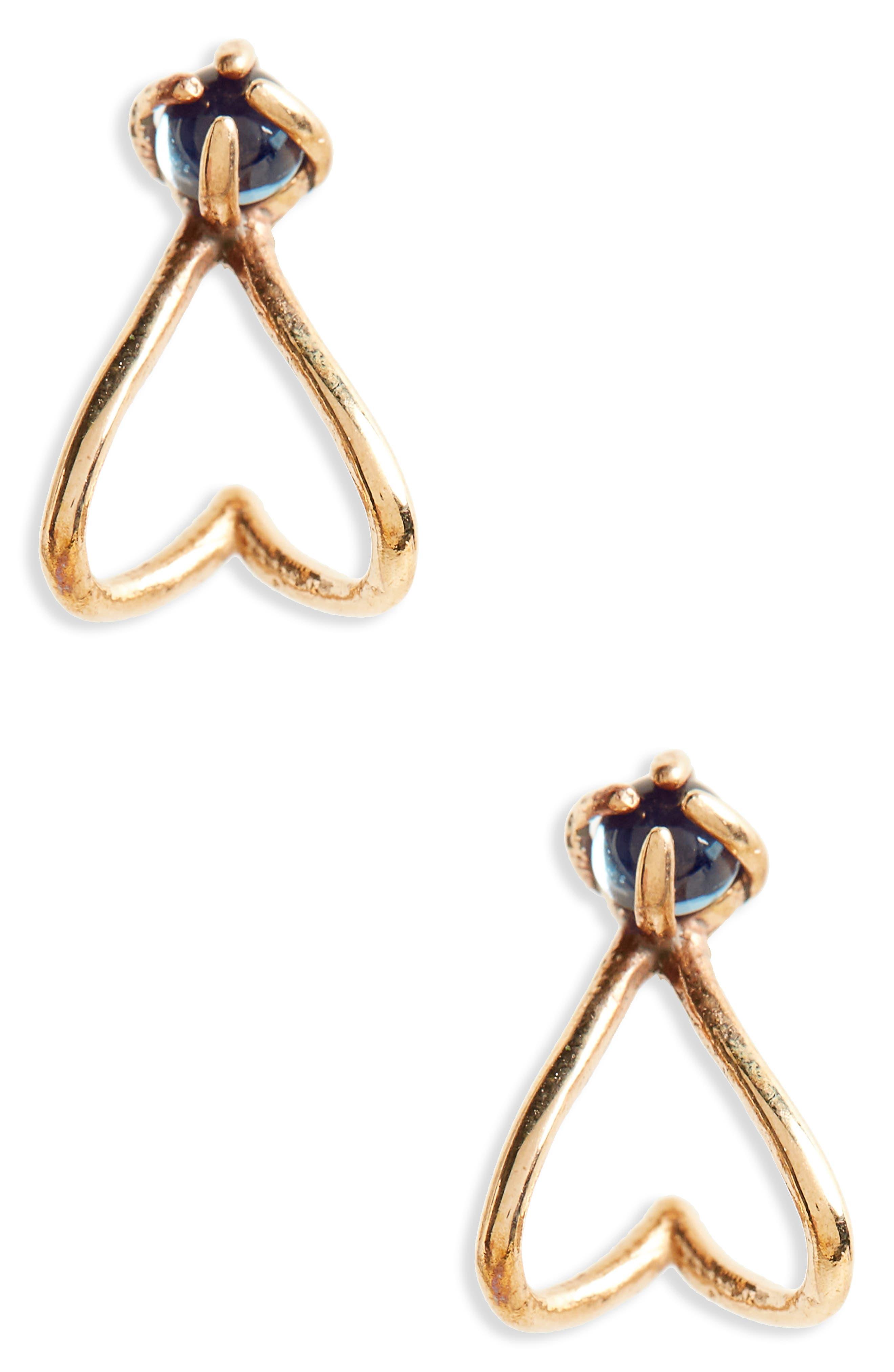 Madewell Blue Topaz Stud Earrings