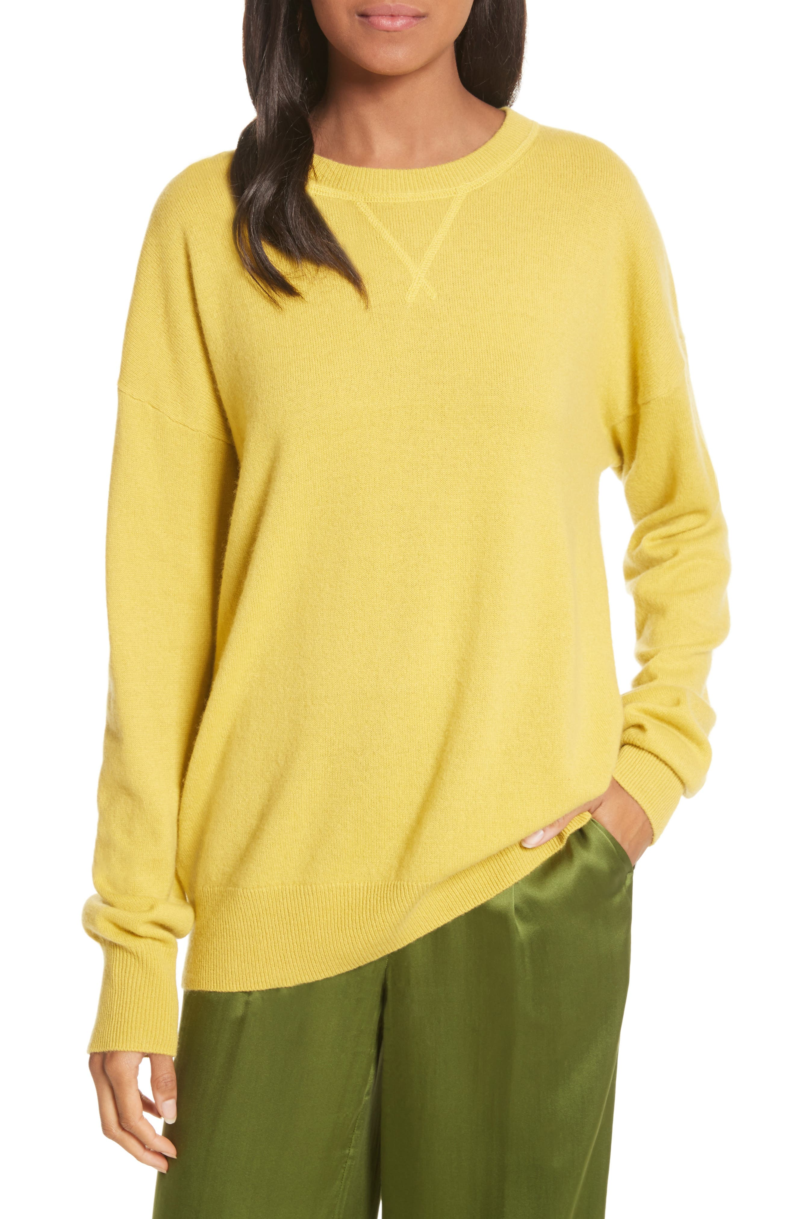 Renee Cashmere Sweatshirt,                         Main,                         color, Bright Side