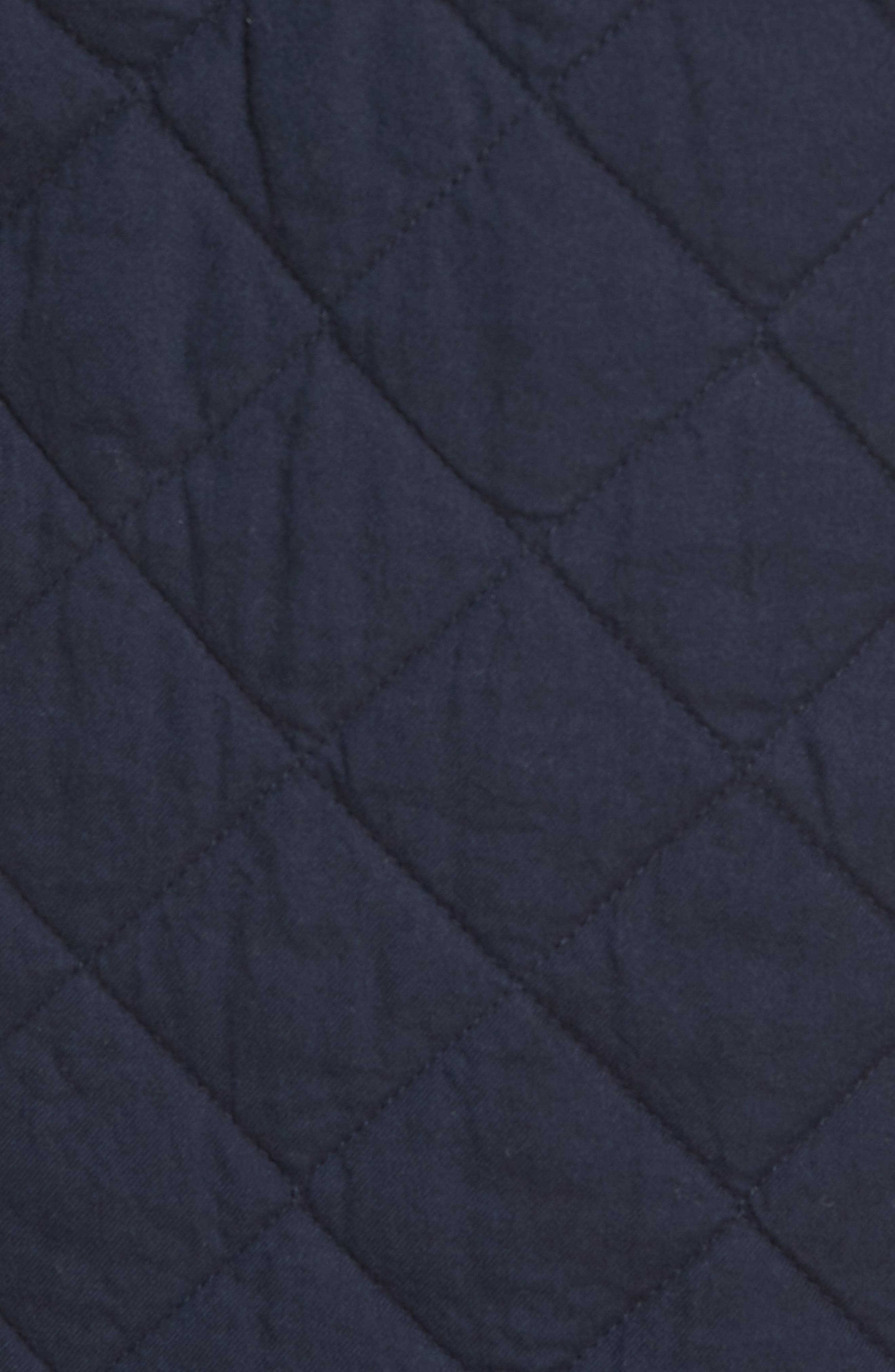 Quilted Shirt Jacket,                             Alternate thumbnail 5, color,                             Navy